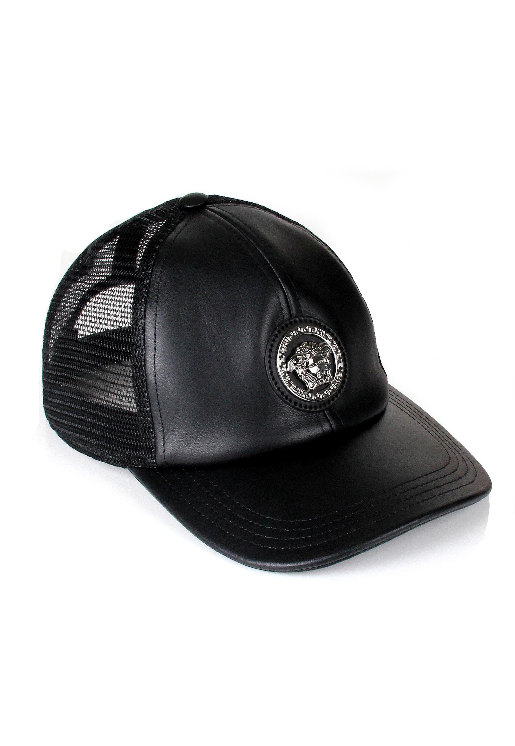 6e9426bc australia lyst versace medusa trucker cap black in black for men 72838 a811d