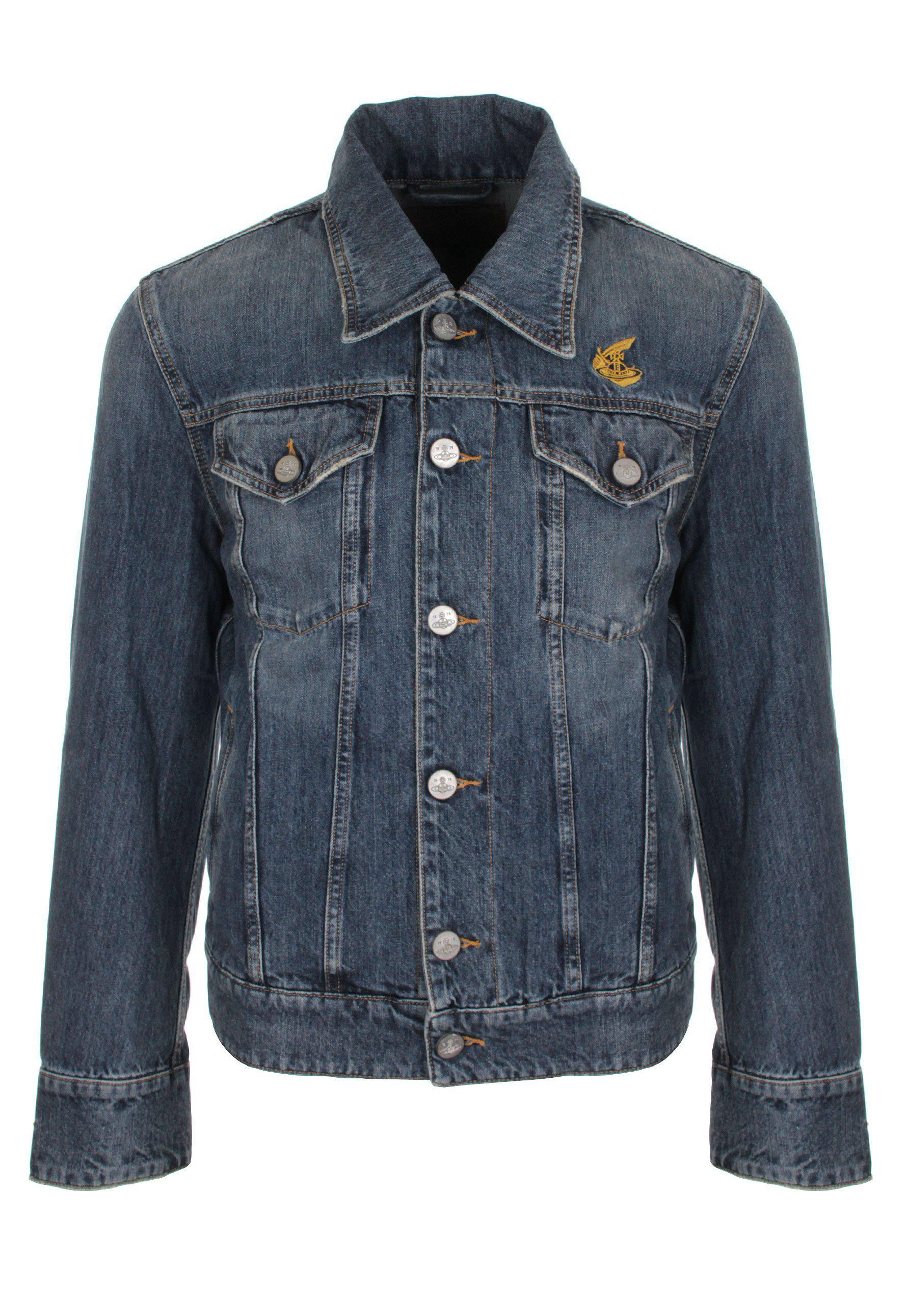 Lyst - Vivienne Westwood Anglomania New D. Ace Jacket Blue Denim in ... 57a741096