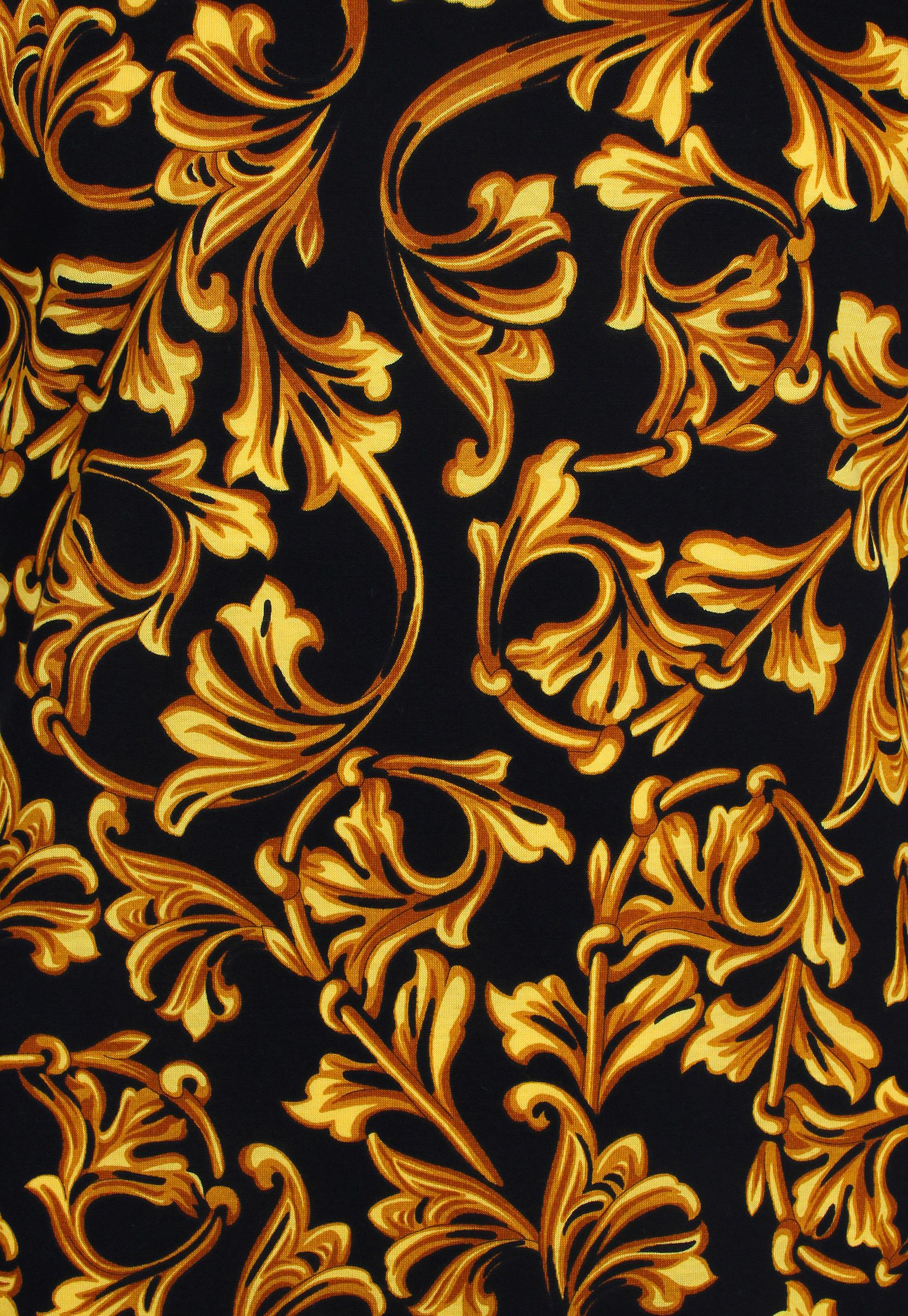 lyst versace all over baroque tshirt blackgold for men