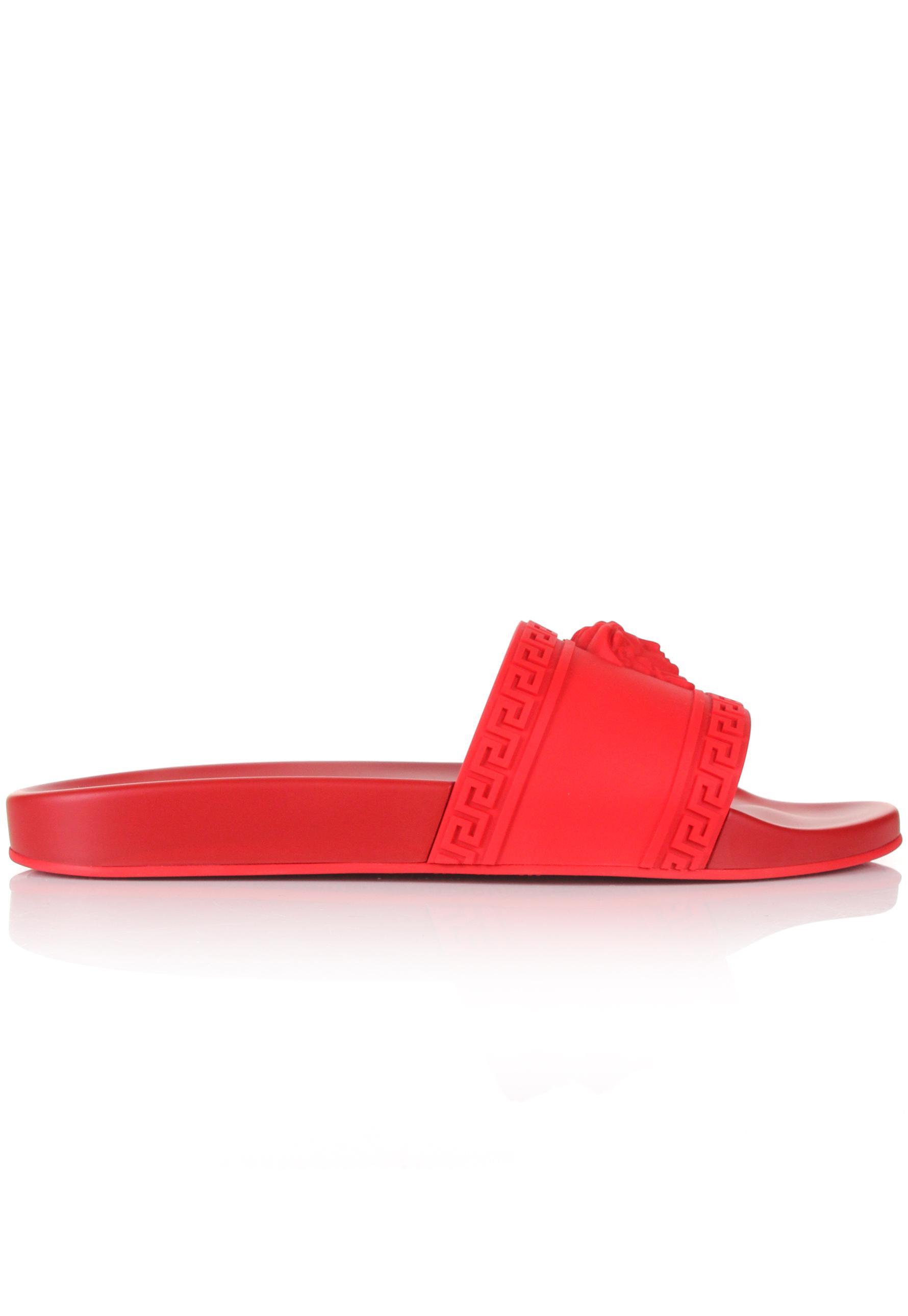 af9c42dc8b37c Versace Medusa-Head PVC Slides in Red for Men - Lyst