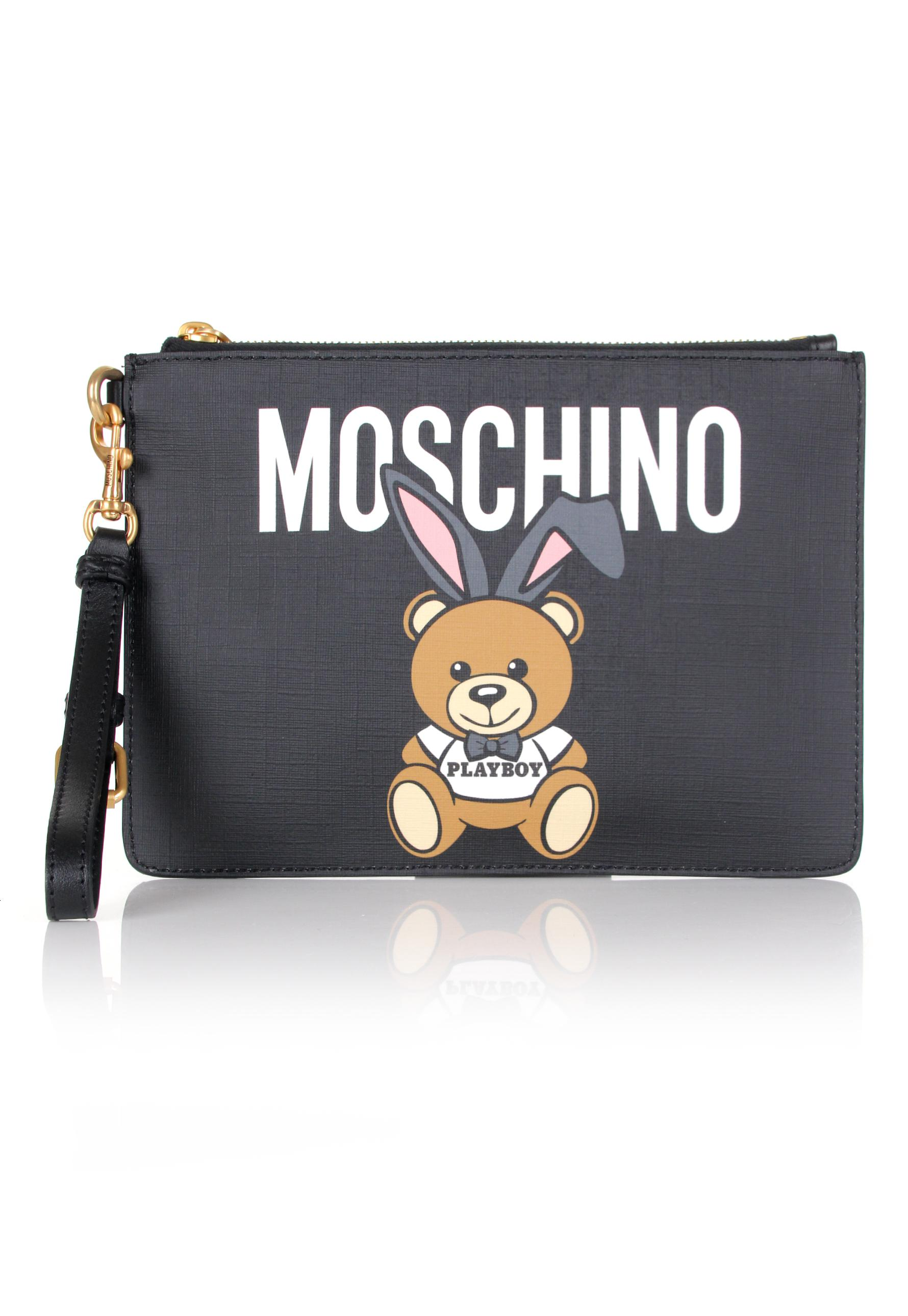 Moschino Playboy Teddy clutch - Black KHJOEA0Jwf