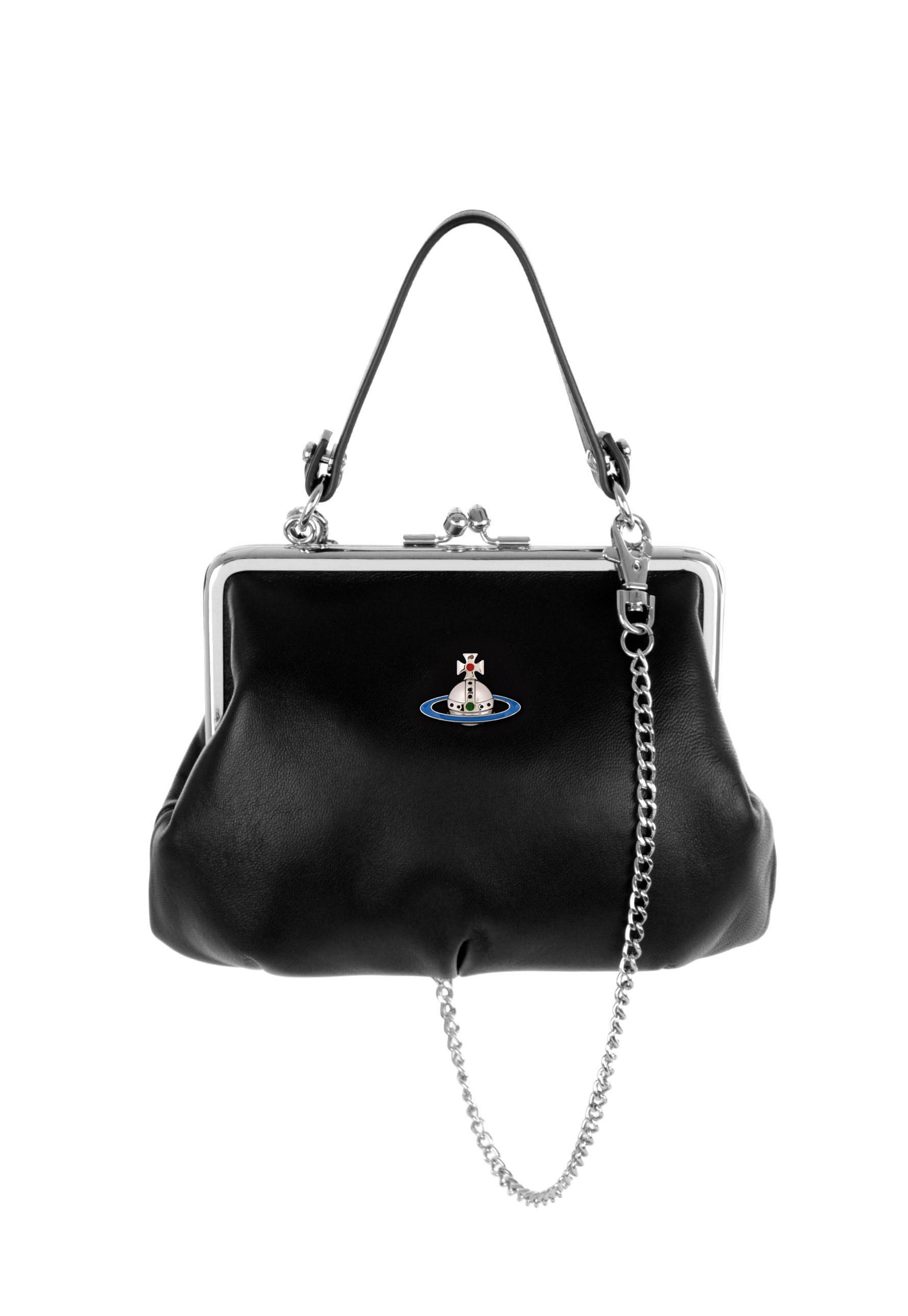 3c965778495 Vivienne Westwood Emma Frame Bag 52020003 Black in Black - Save 19 ...