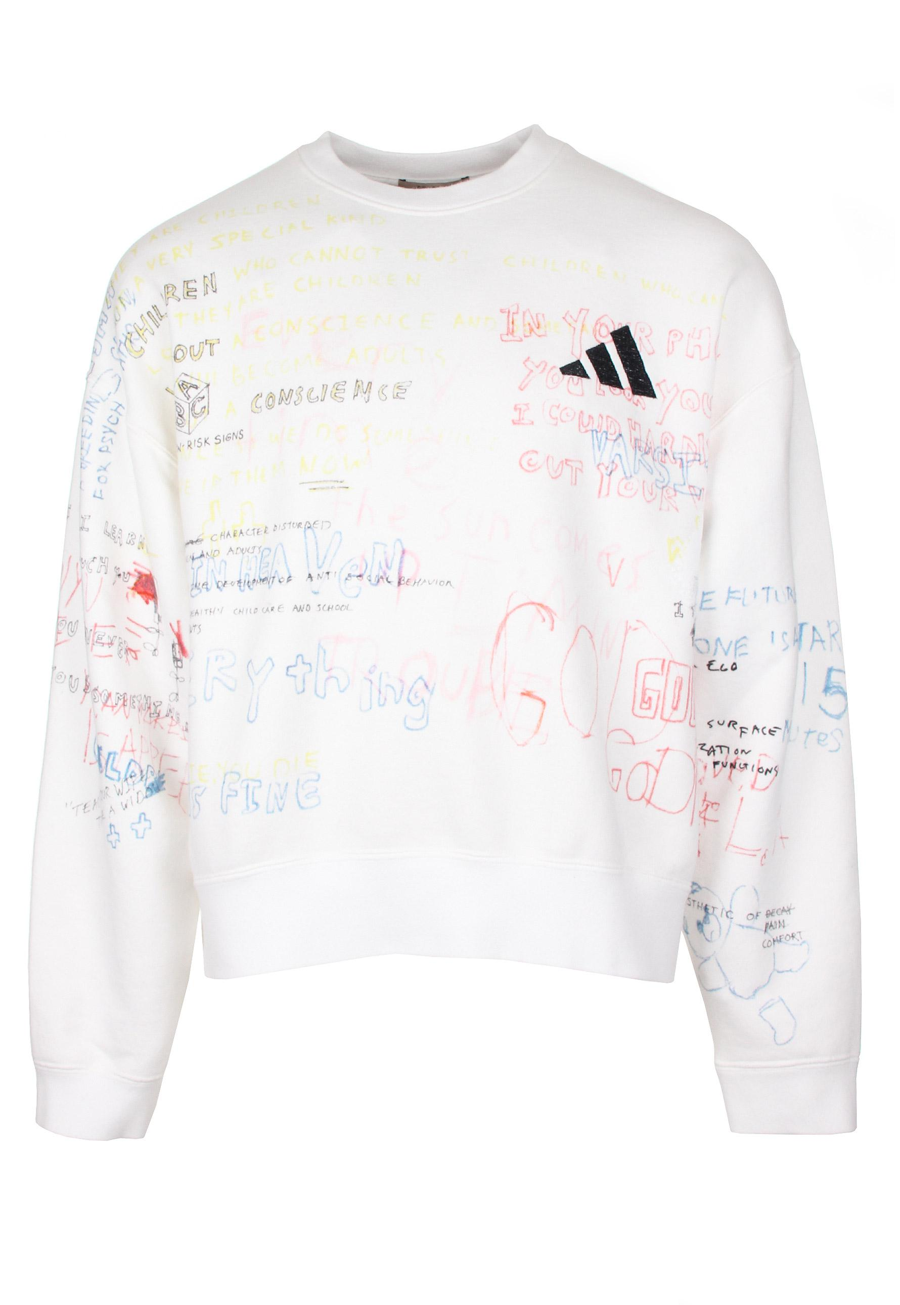 d6bf5a16c Lyst - Yeezy Season 5 Crew Neck Sweatshirt With Painting Heather for Men