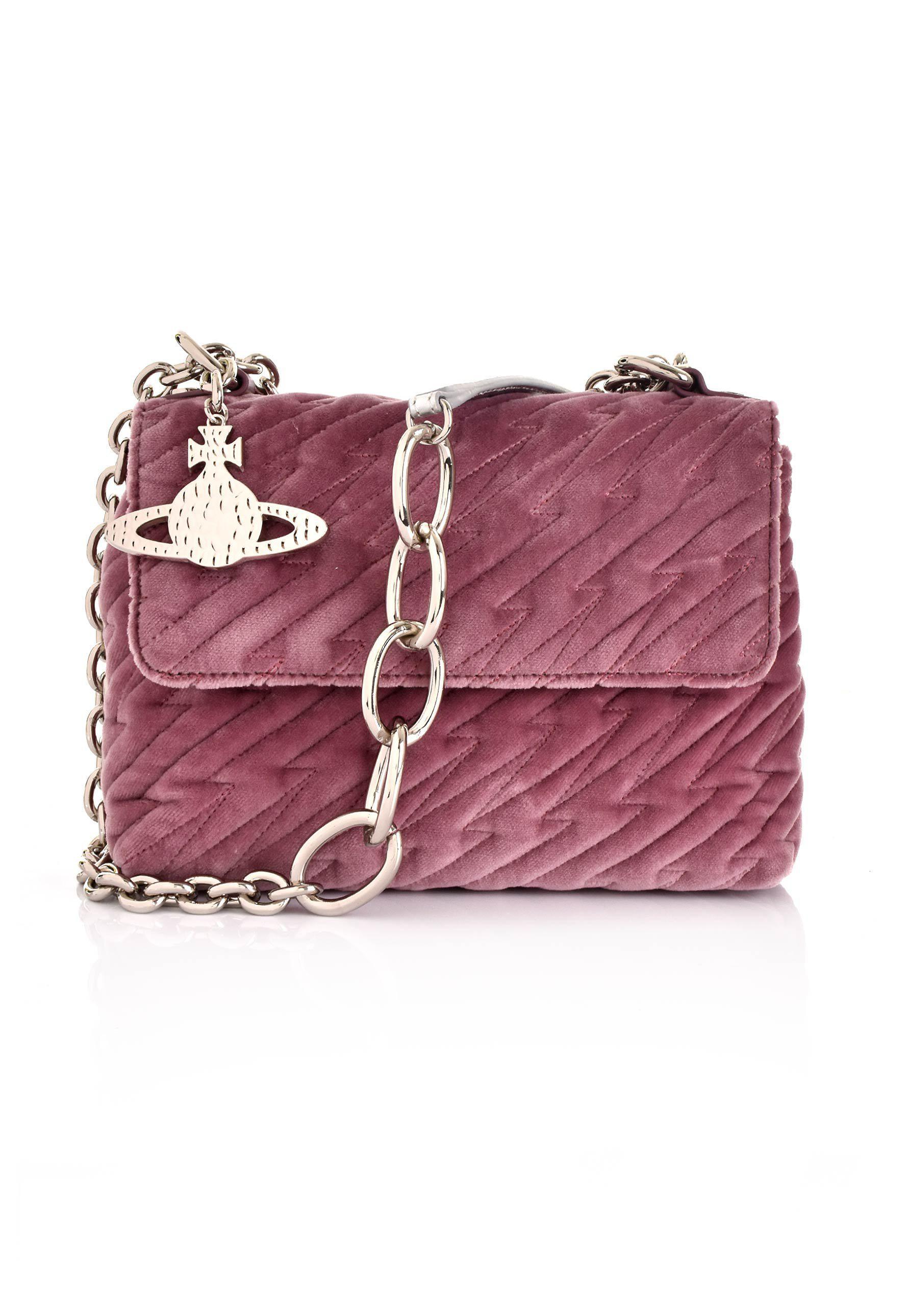aeb197d60629 Lyst - Vivienne Westwood Coventry Velvet Medium Handbag 42020030 ...