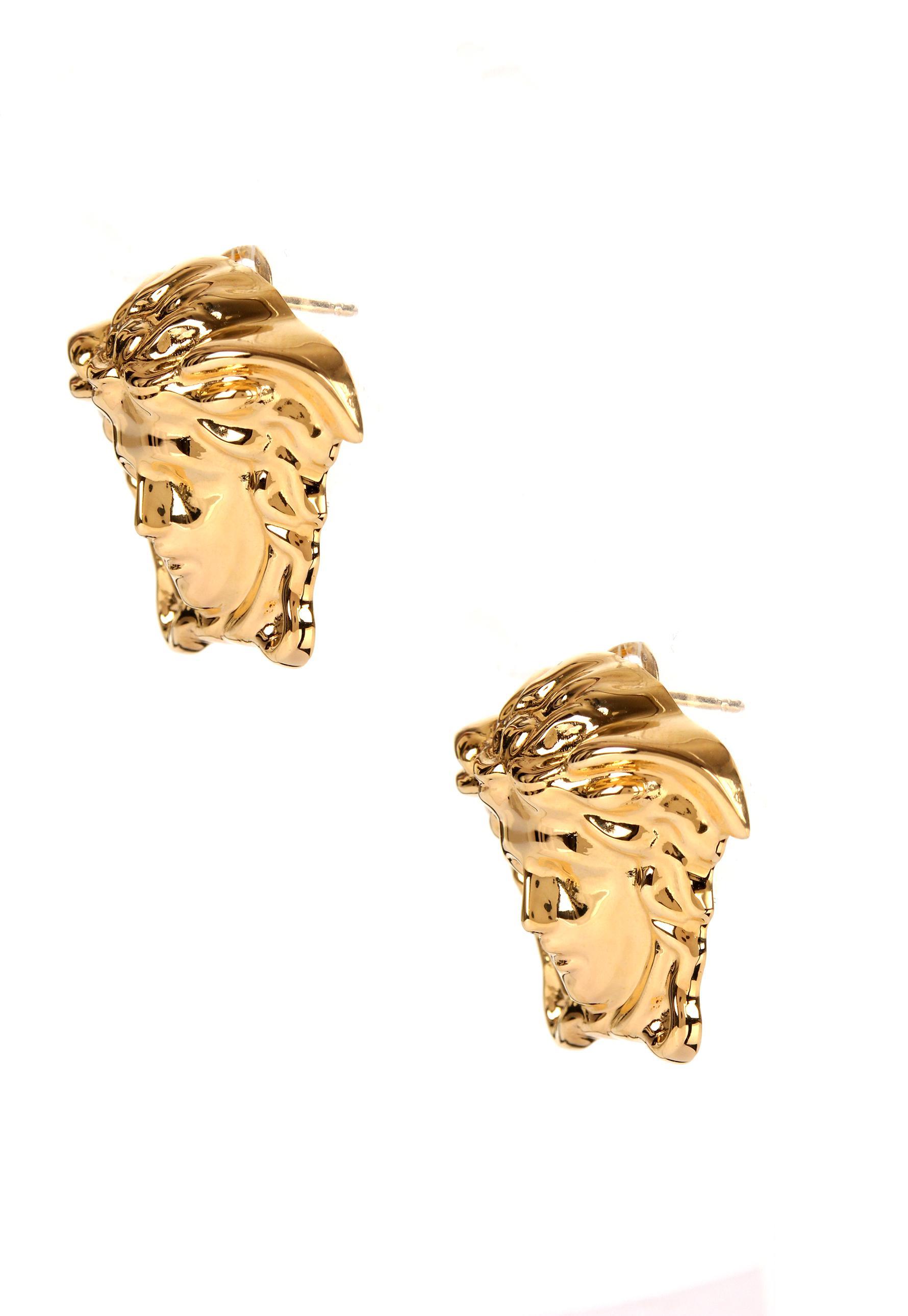 2af626dde Versace - Metallic Large Medusa Head Earrings Gold - Lyst. View fullscreen