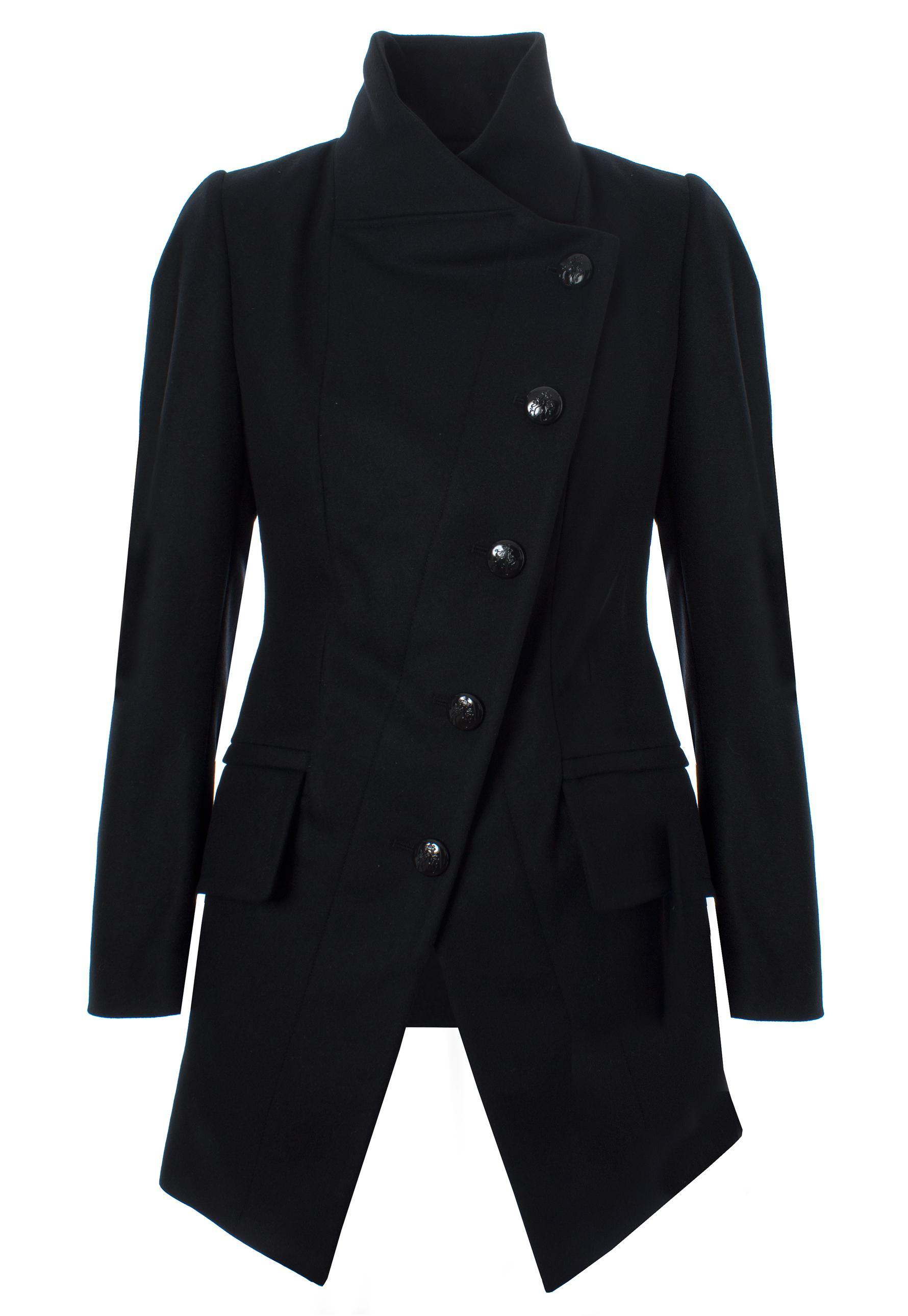 Lyst - Vivienne Westwood Anglomania State Coat Black in Black 2ca750b09