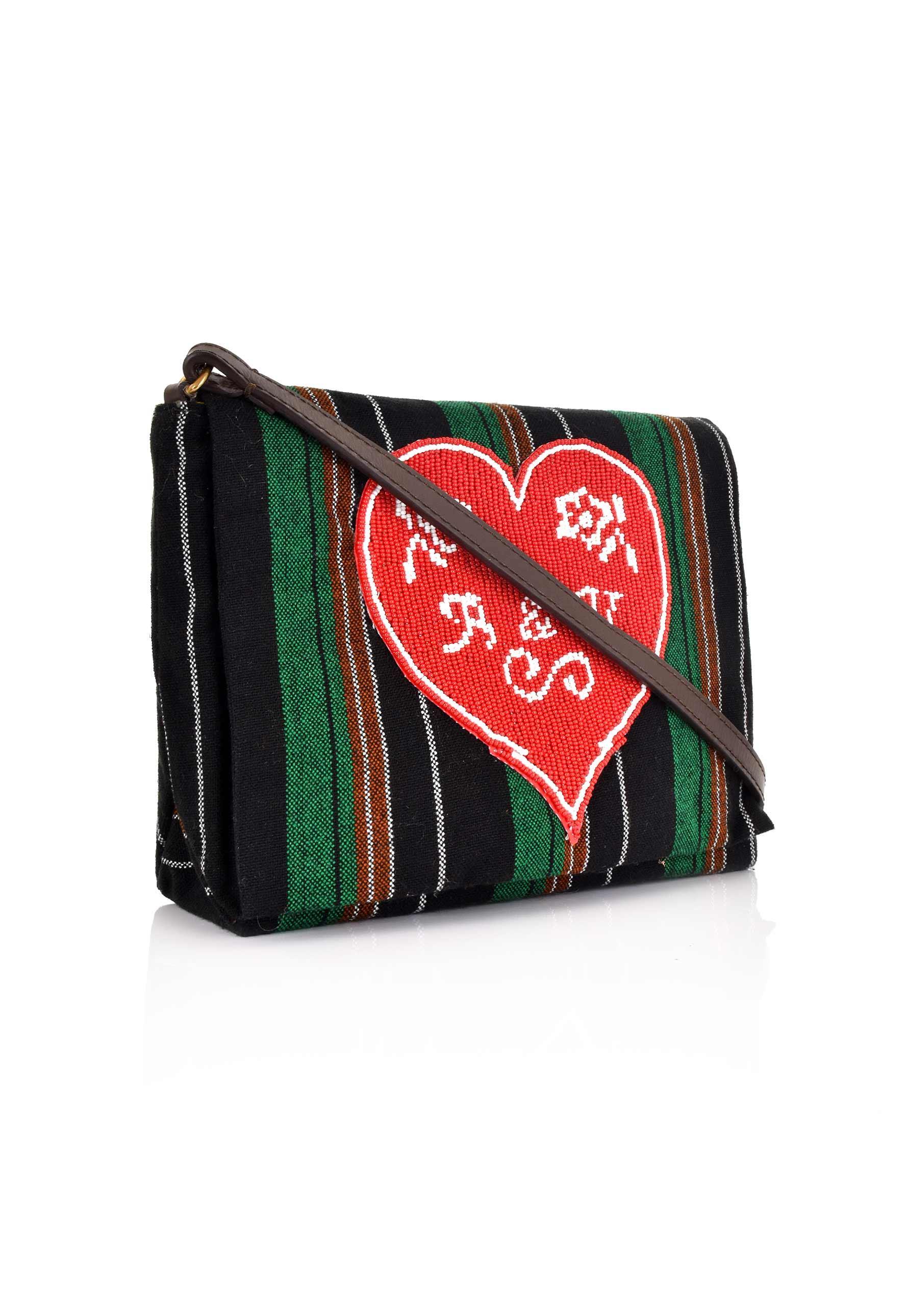 c758b8e0eb89 Vivienne Westwood Robin Stripes Beaded Shoulder Bag 41010024 Multi ...