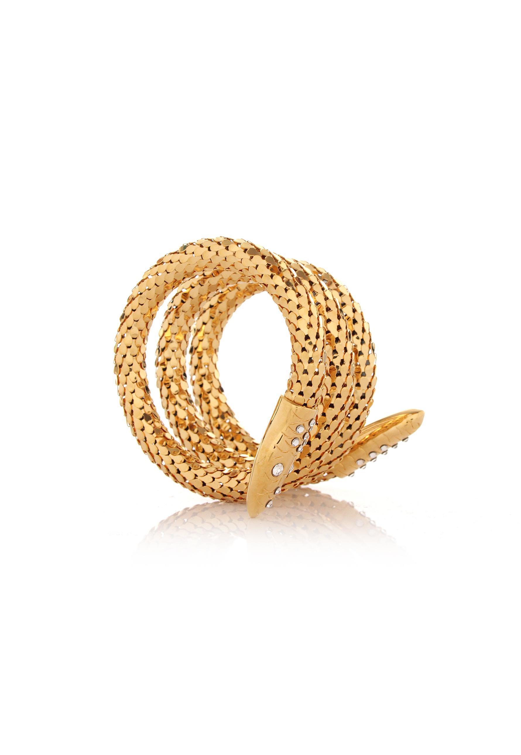 Giuseppe Zanotti serpent wrap bracelet - Metallic 3SxruxUl