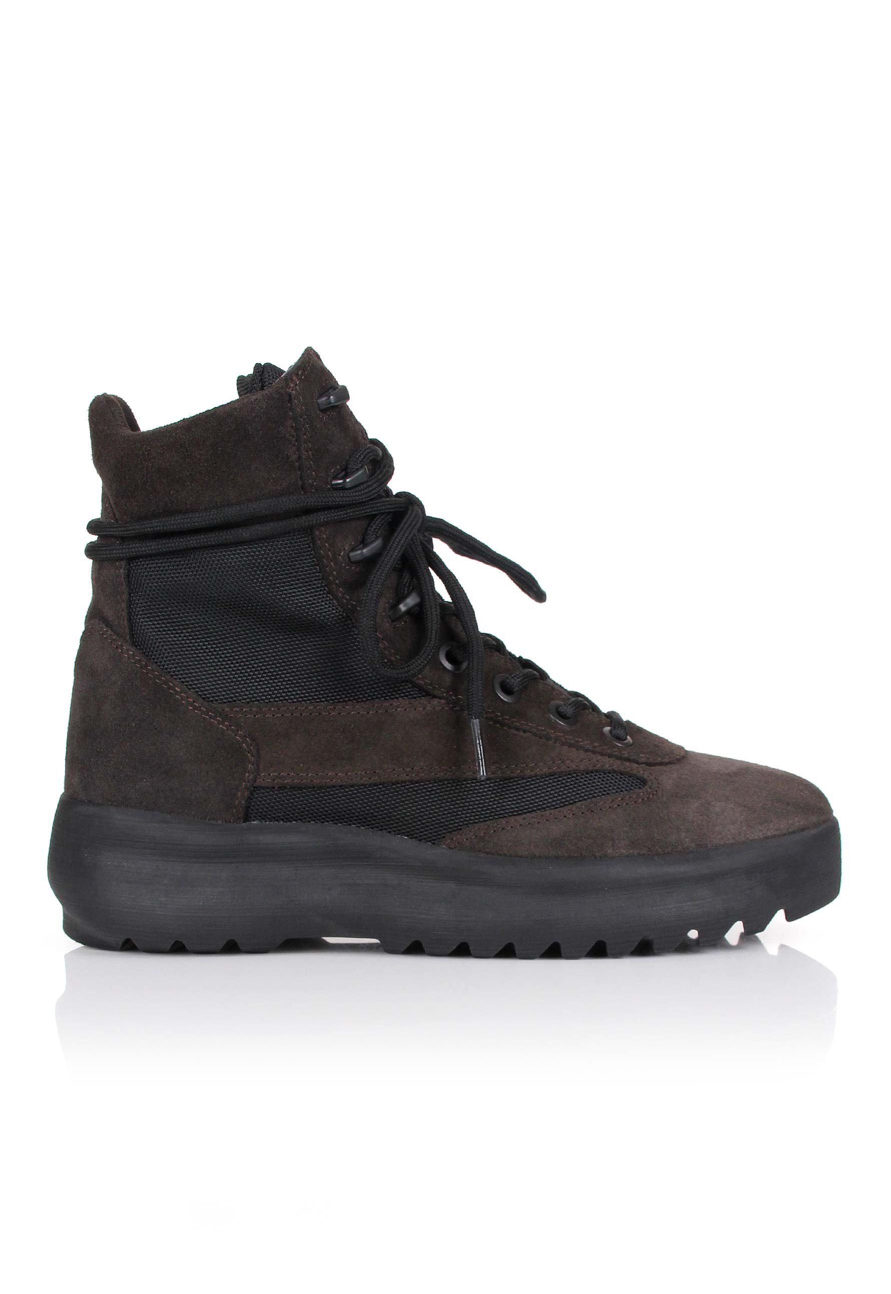 c691c2aa4bc6e Lyst - Yeezy Season 5 Military Boots Oil in Black for Men