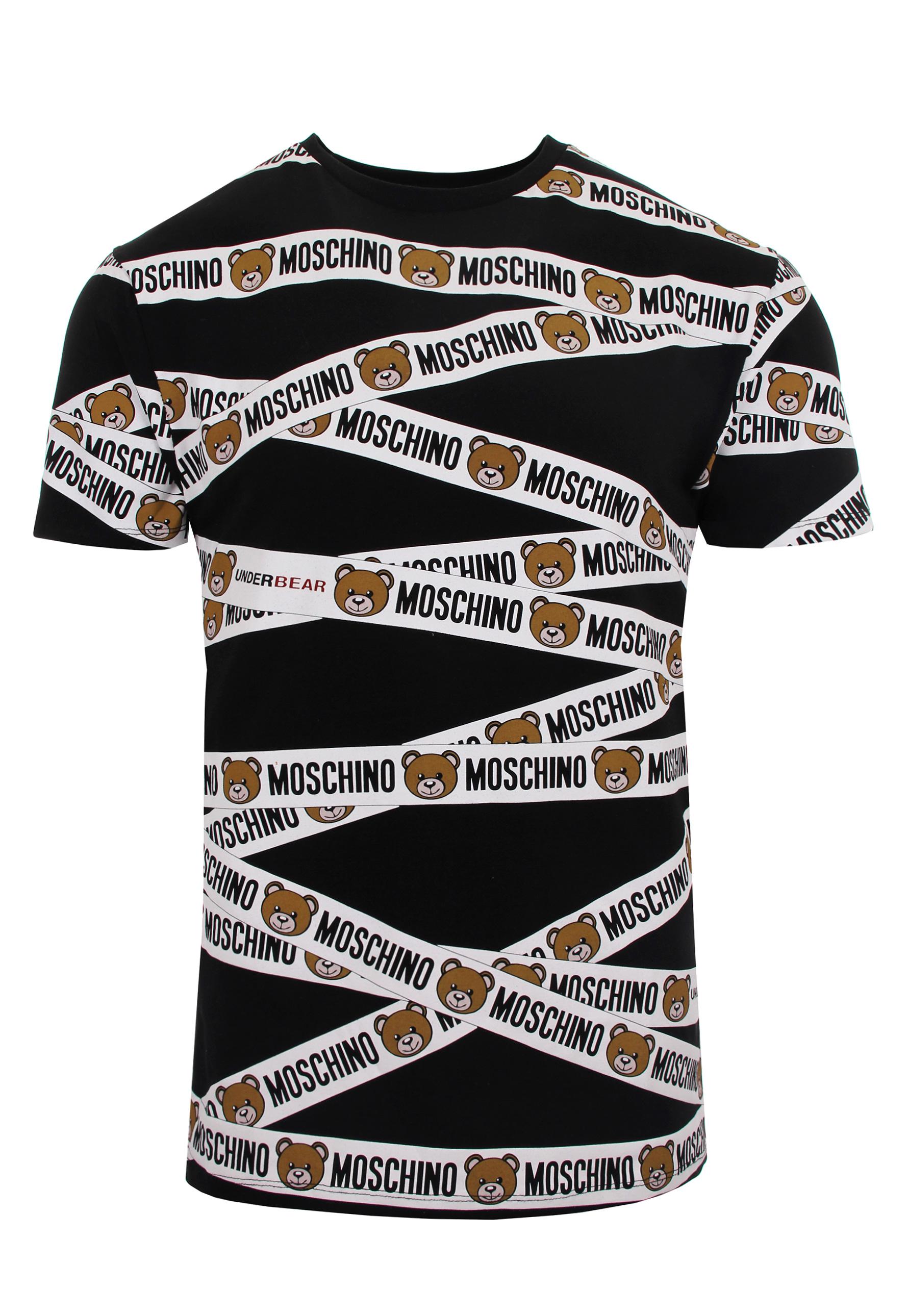 d113bdf4 Moschino Mens Bear Tape T Shirt Black In For Men Lyst