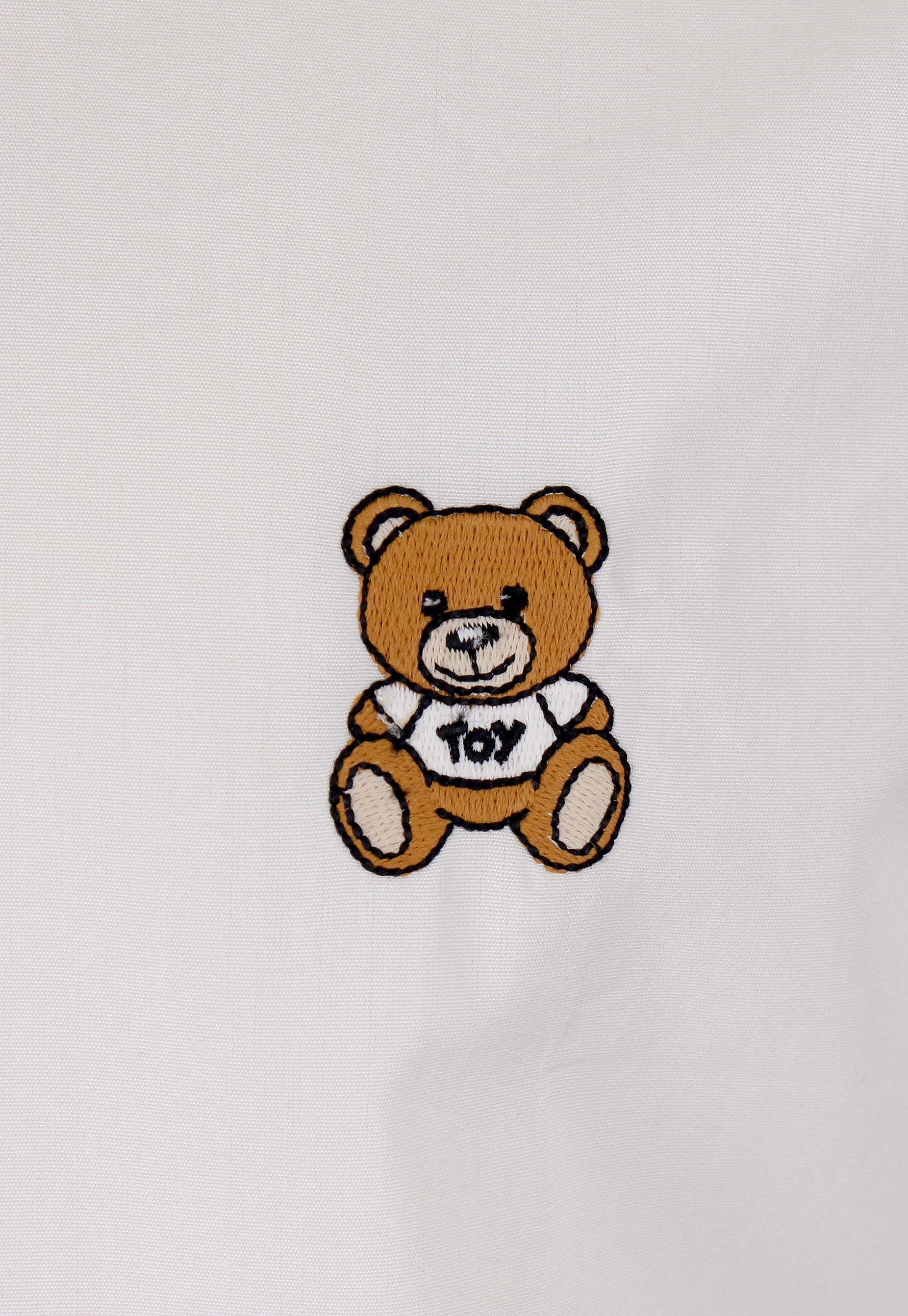 Moschino Teddy Bear Logo Shirt White in White for Men | Lyst