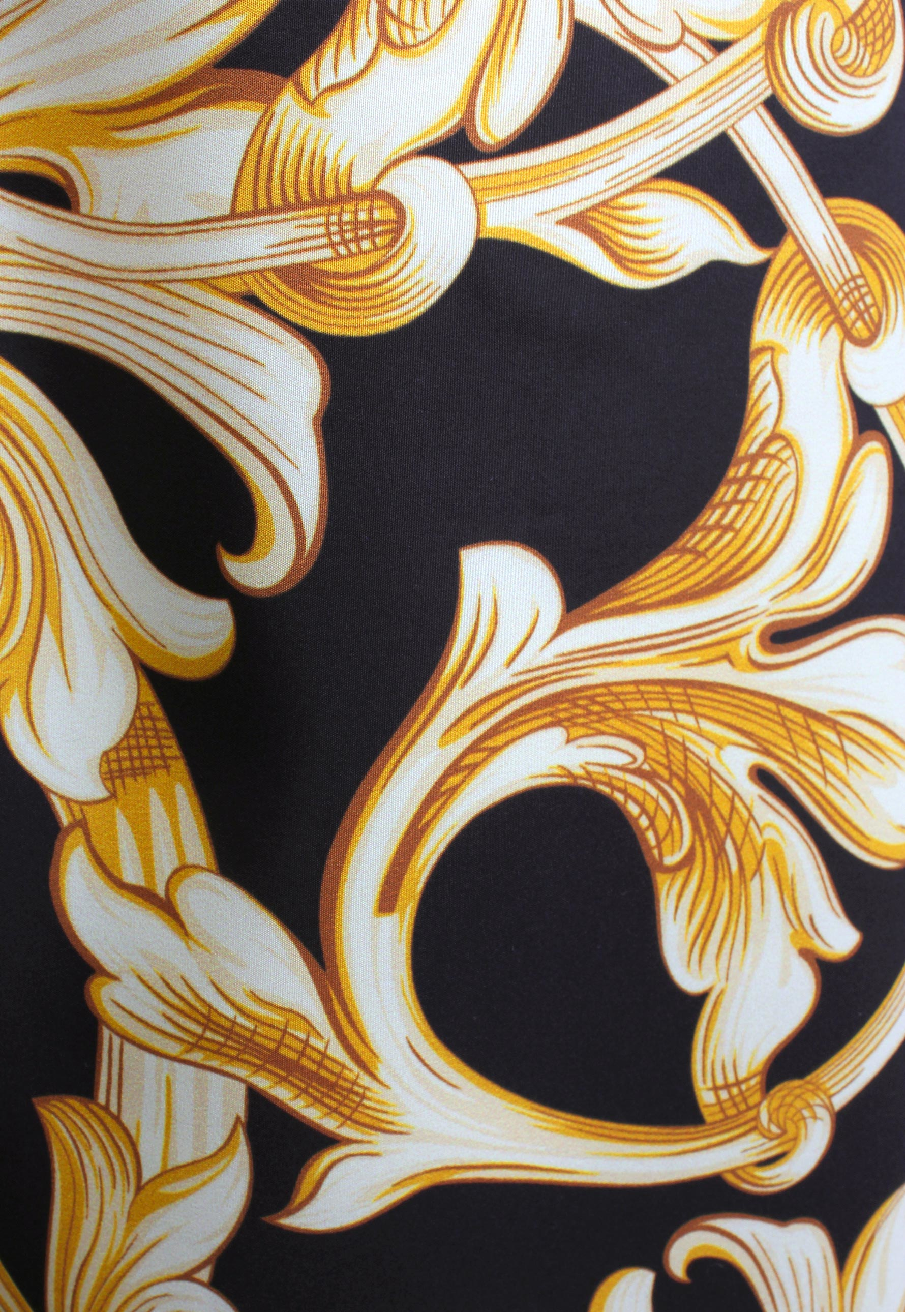 Versace Baroque Print Long Swimming Shorts Black Gold In For Versacee Printed On Gallery