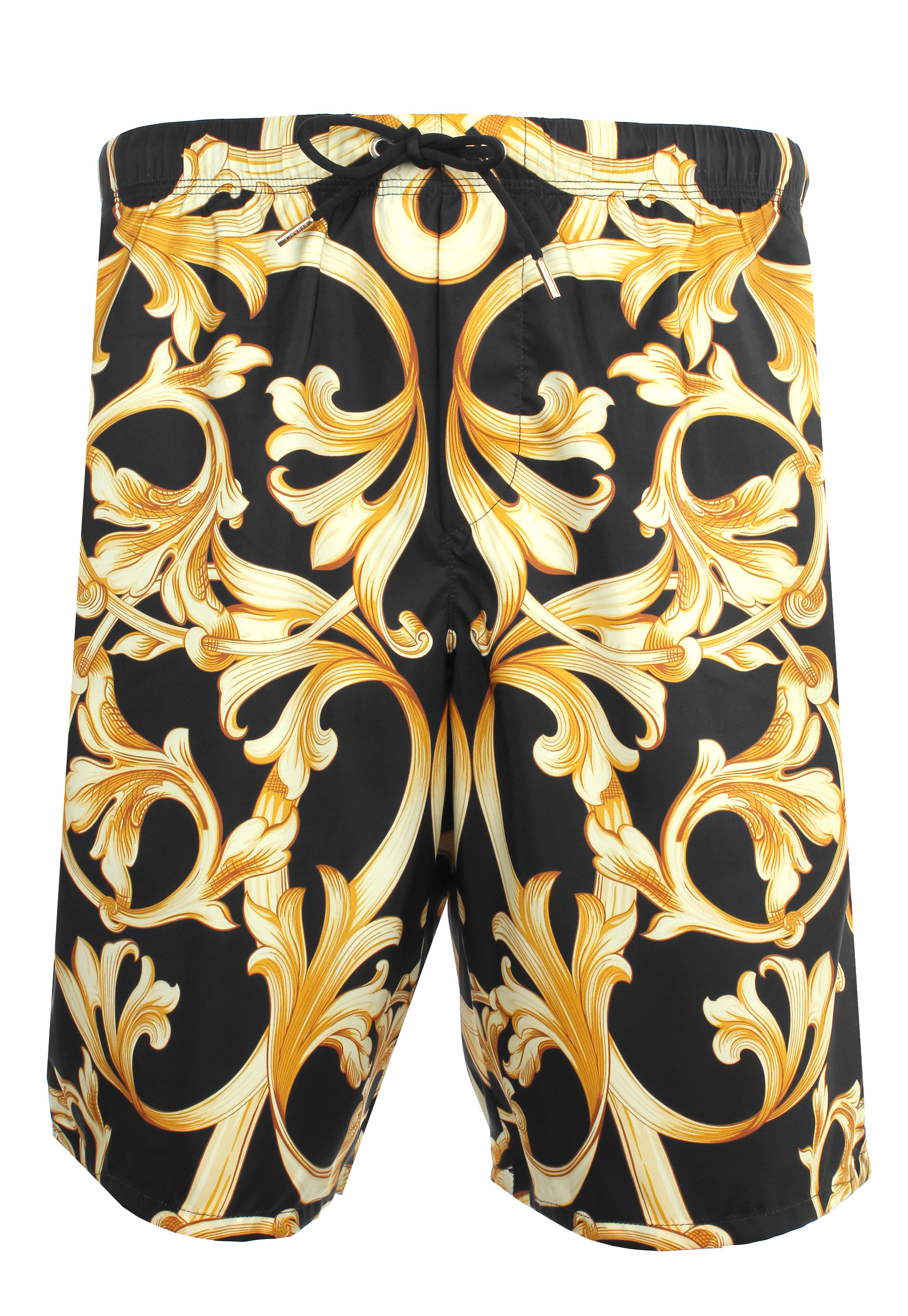 a2302ae793 Versace Baroque Print Long Swimming Shorts Black/gold in Black for ...