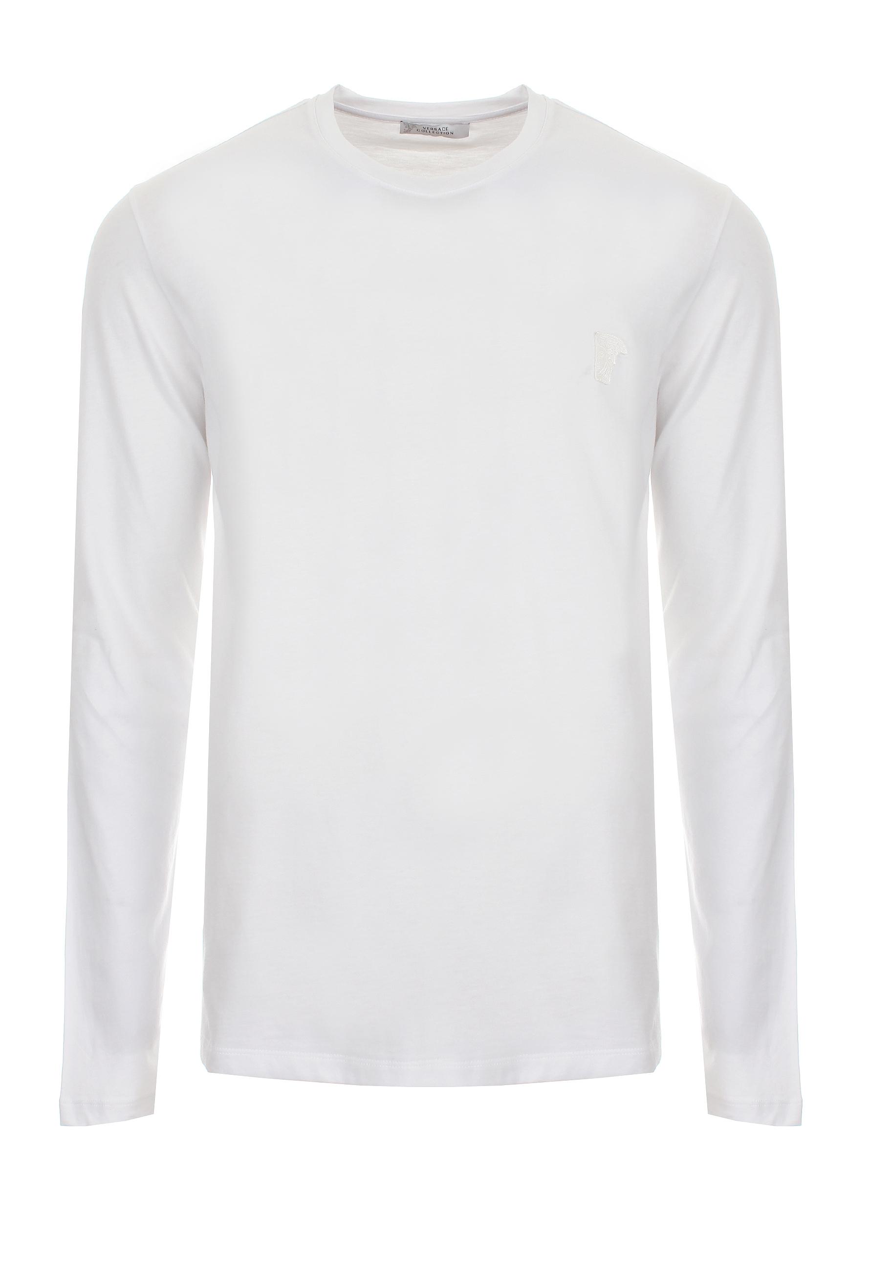 6ec5c0b3 Versace Half Medusa Logo Long Sleeve T-shirt White in White for Men ...