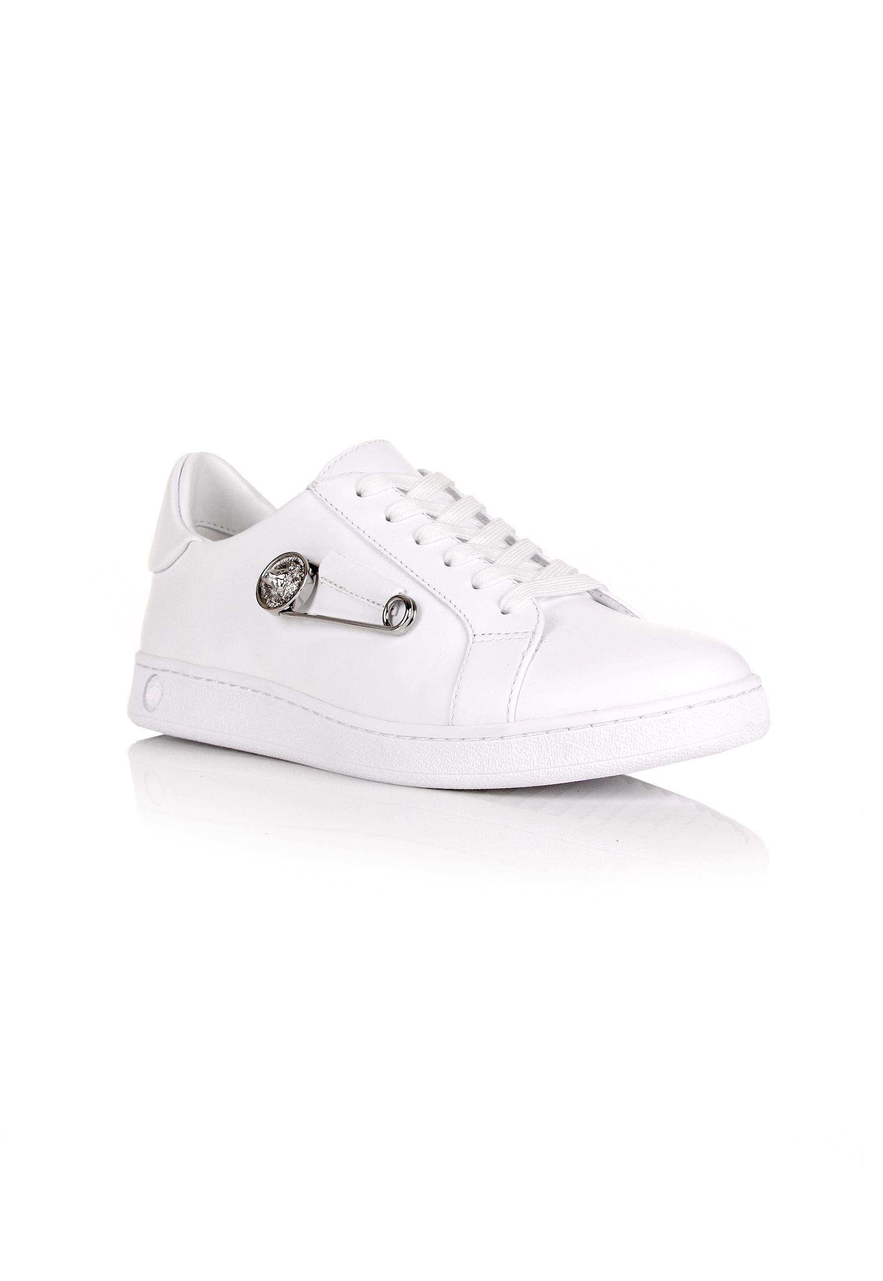 140a4b246a7c Lyst - Versus Safety Pin Sneakers White white in White for Men