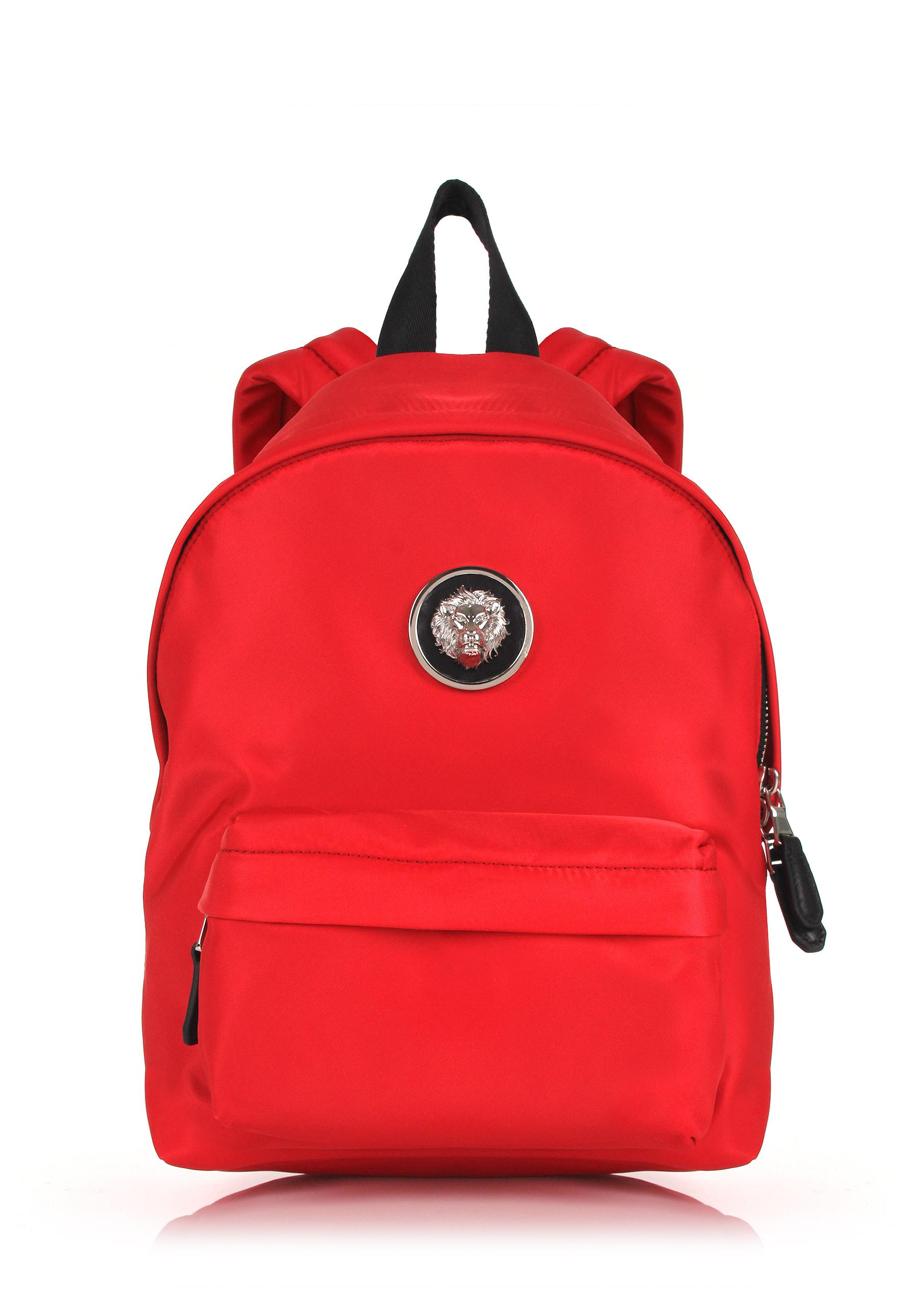 44395242a54a Versus Small Nylon Lion Head Backpack Red nickel in Red - Lyst