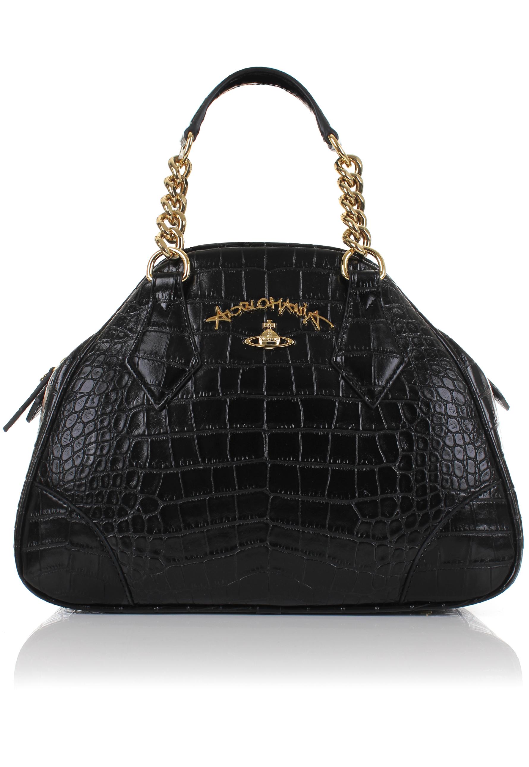 Lyst - Vivienne Westwood Dorset 7268 Small Chain Yasmine Bag Black ... ed7e3c125824d