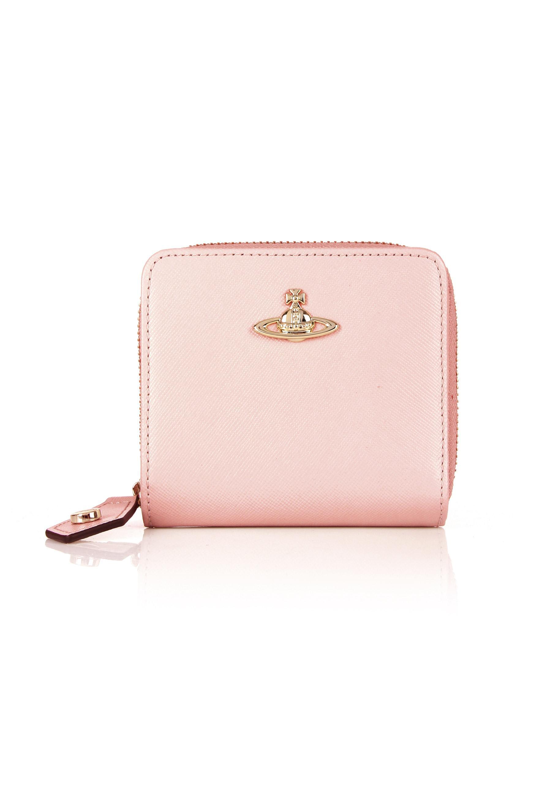 9309d29e2f9 Vivienne Westwood Opio Saffiano 321408 Medium Zip Around Wallet Pink ...