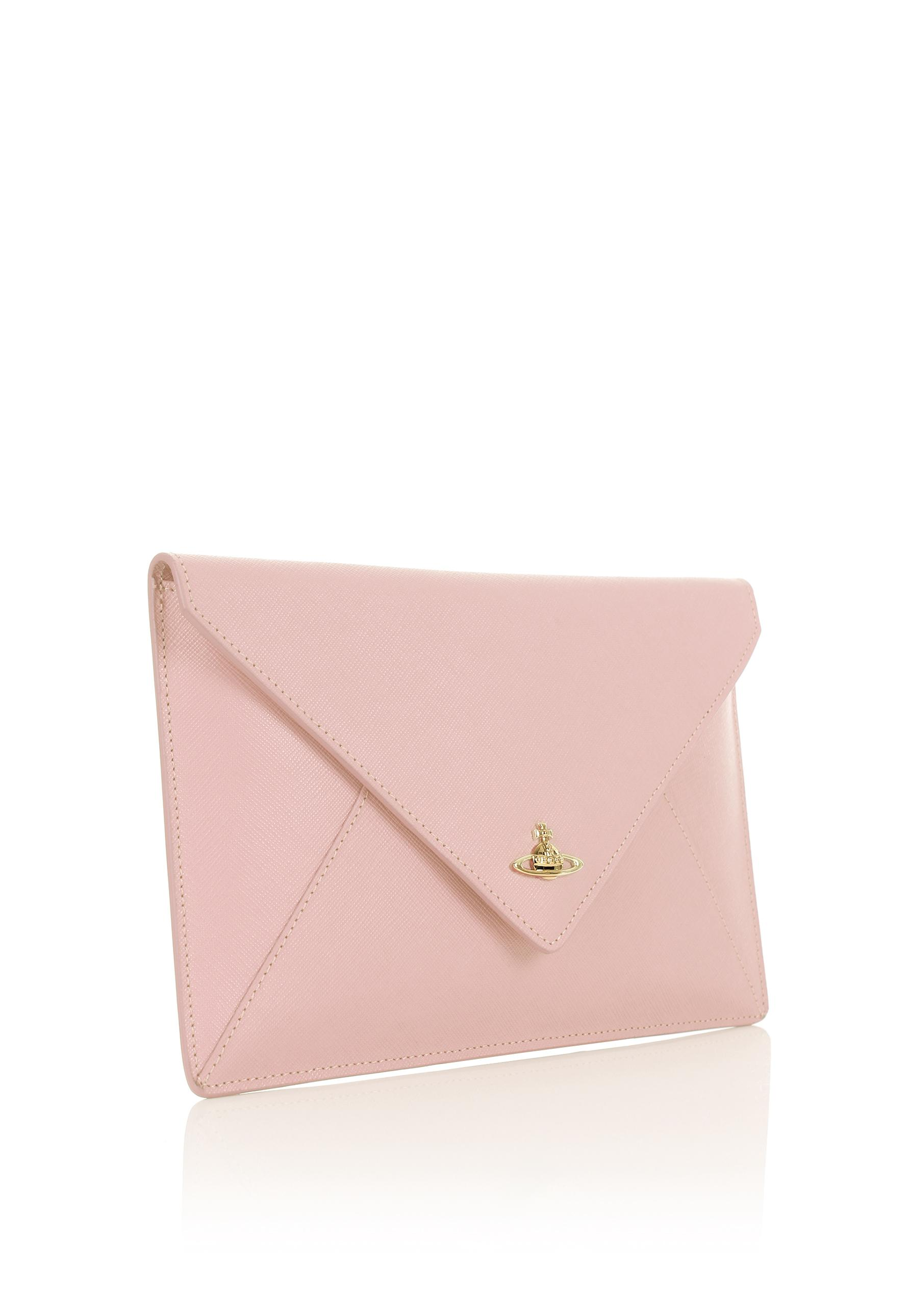 98d4745d5 Lyst - Vivienne Westwood Pouch 7040 Envelope Clutch Pink in Pink