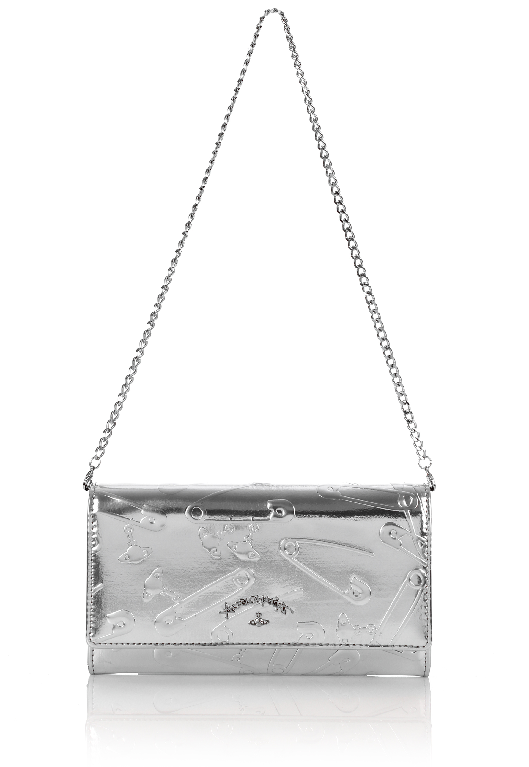7ea0a6549af0 Lyst - Vivienne Westwood Safety Pin 321238 Long Purse With Chain ...