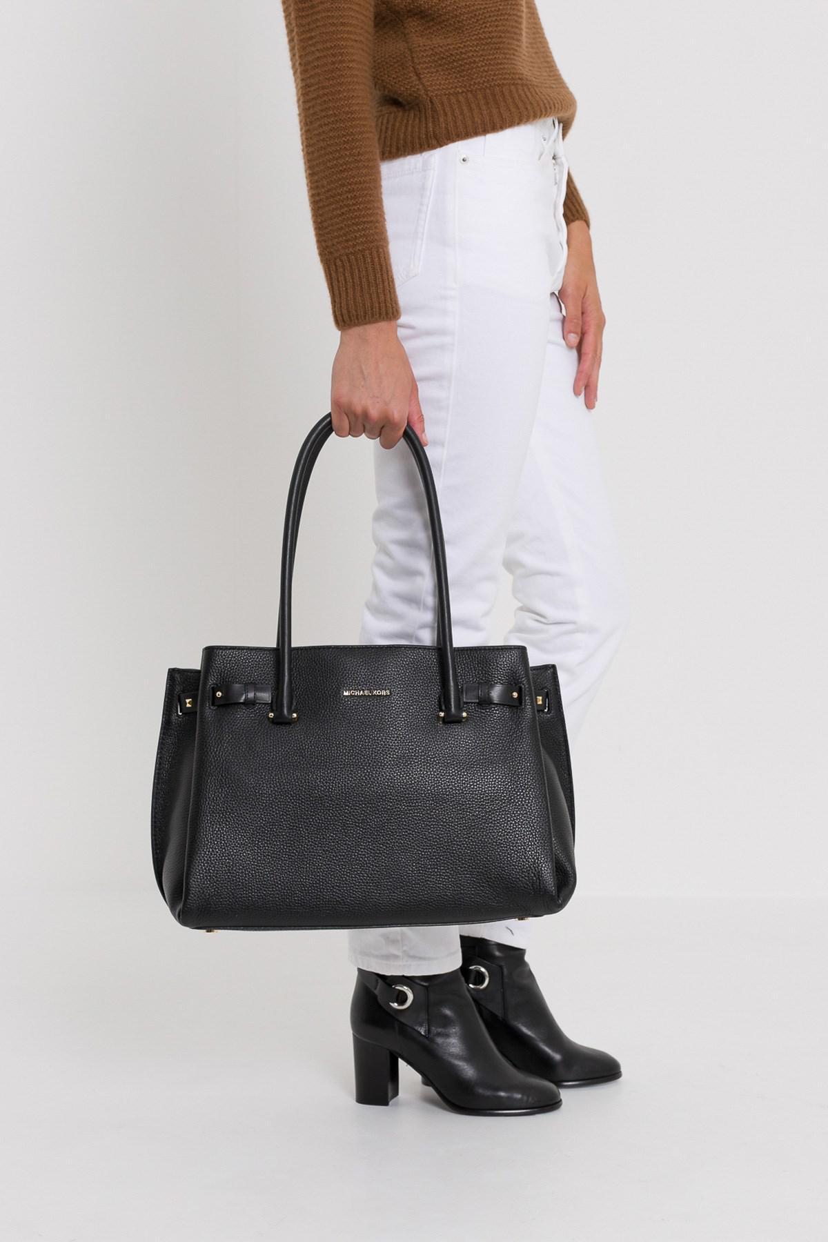 fc89baa092ad MICHAEL Michael Kors Addison Tote Bag in Black - Lyst