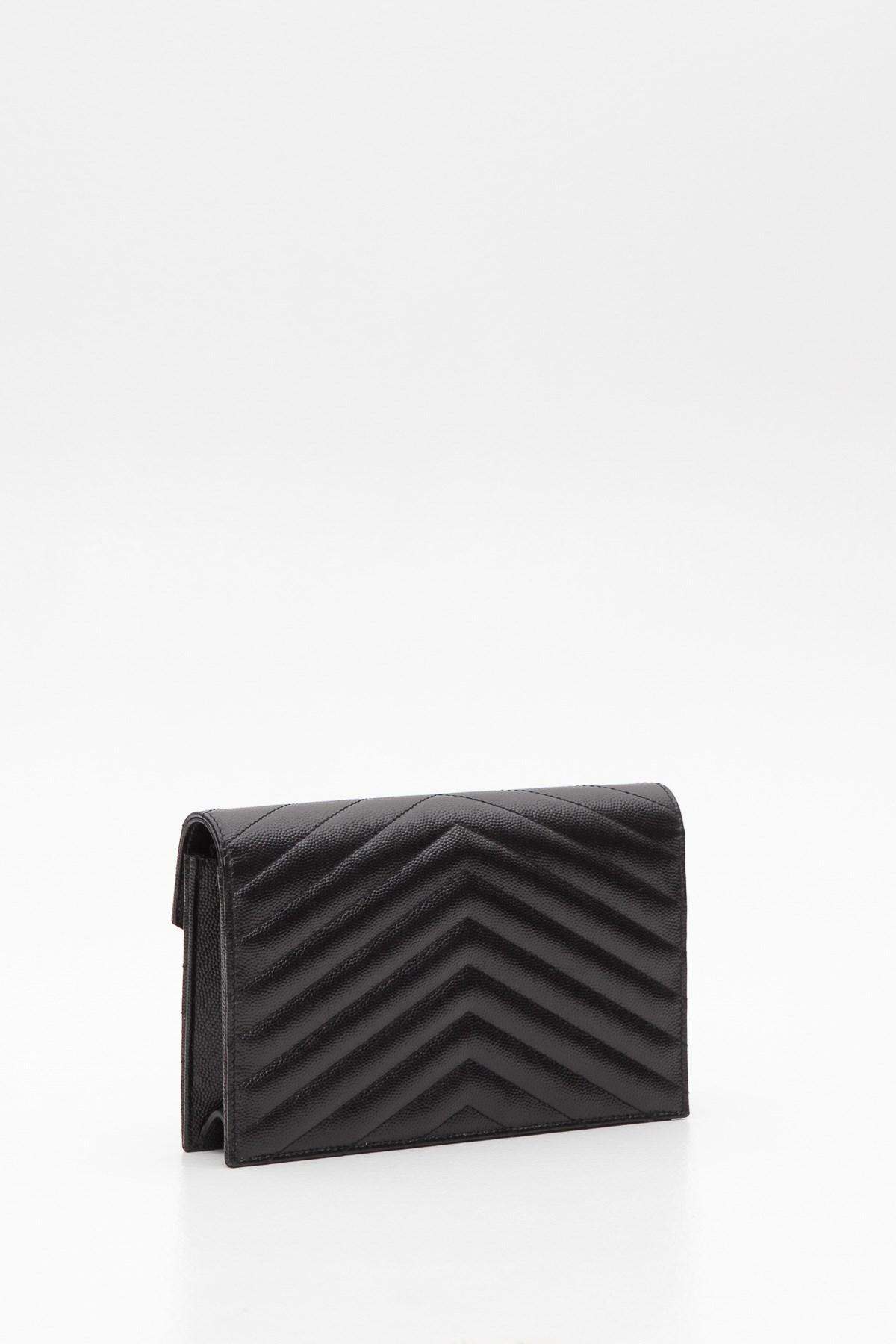 5fcf812c23de Saint Laurent - Multicolor Textured Matelassé Leather Envelope Chain Wallet  - Lyst. View fullscreen