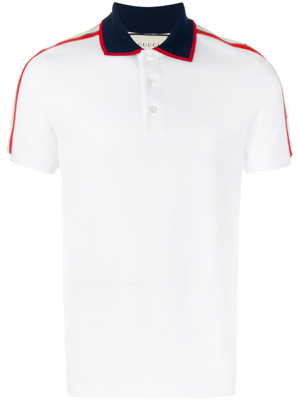 03db428c Gucci T-shirt Polo in White for Men - Lyst