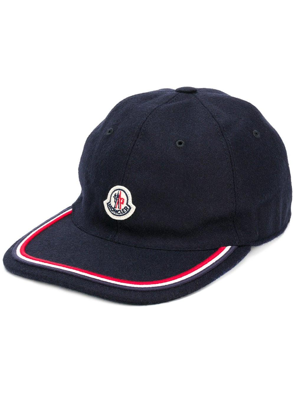 78e4336c3f36 Lyst - Moncler Piped Logo Patch Cap in Blue for Men - Save 51%
