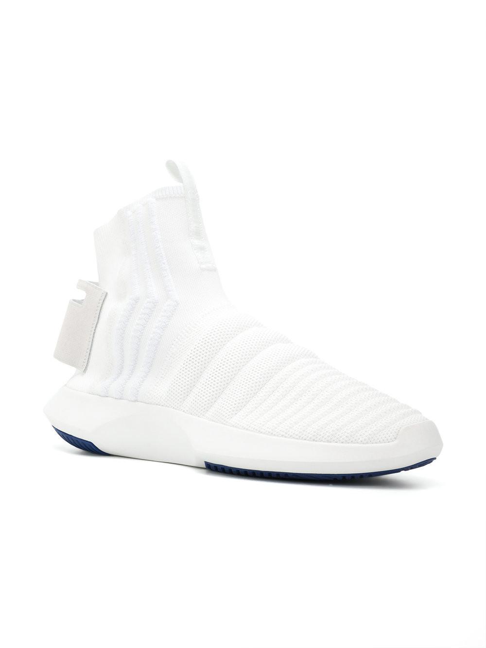 buy popular 1a178 9312d Adidas Originals - White Crazy 1 Sock Adv Primeknit Sneakers - Lyst. View  fullscreen