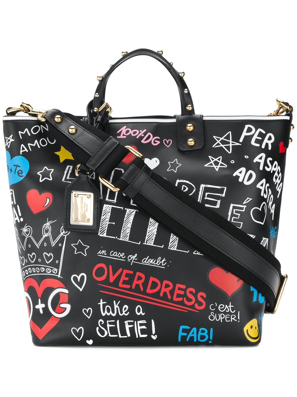 Dolce   Gabbana. Women s Beatrice Mural Tote Bag 07ec8c6cca9d5