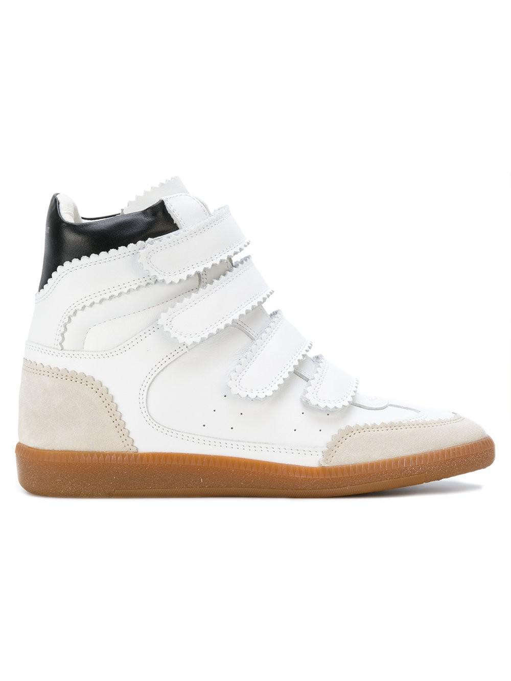 Isabel Marant Women's Bilsy Velcro Wedged Hi-Top Trainers - - UK 3