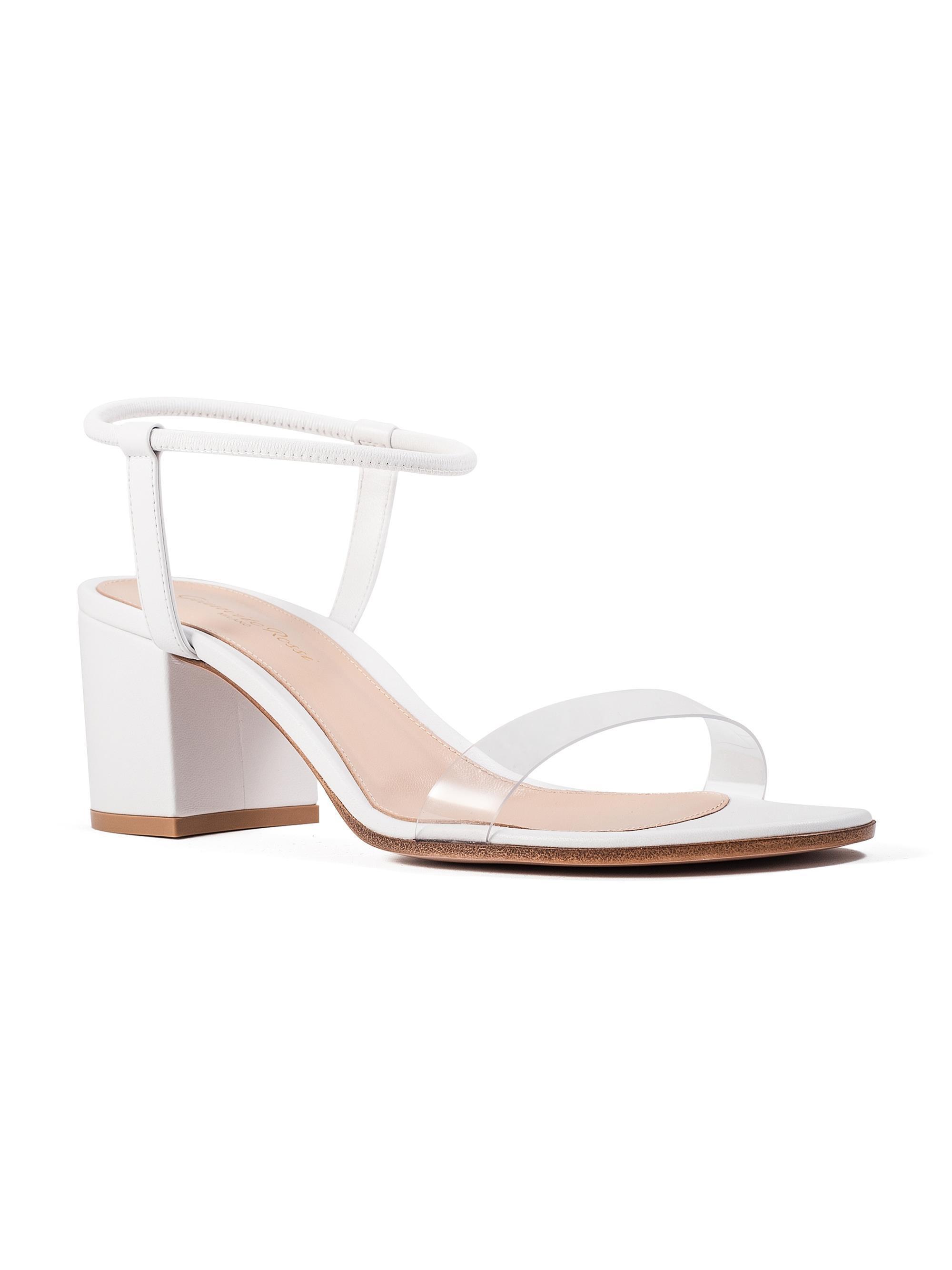 0f8ca7b1d7e Lyst - Gianvito Rossi Transparent Strap Sandals in White - Save  8.862876254180605%