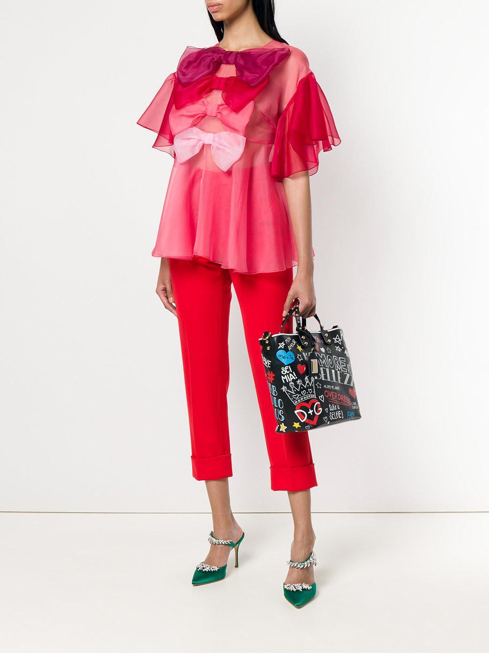 458bcf071da1 Lyst - Dolce   Gabbana Beatrice Mural Tote Bag