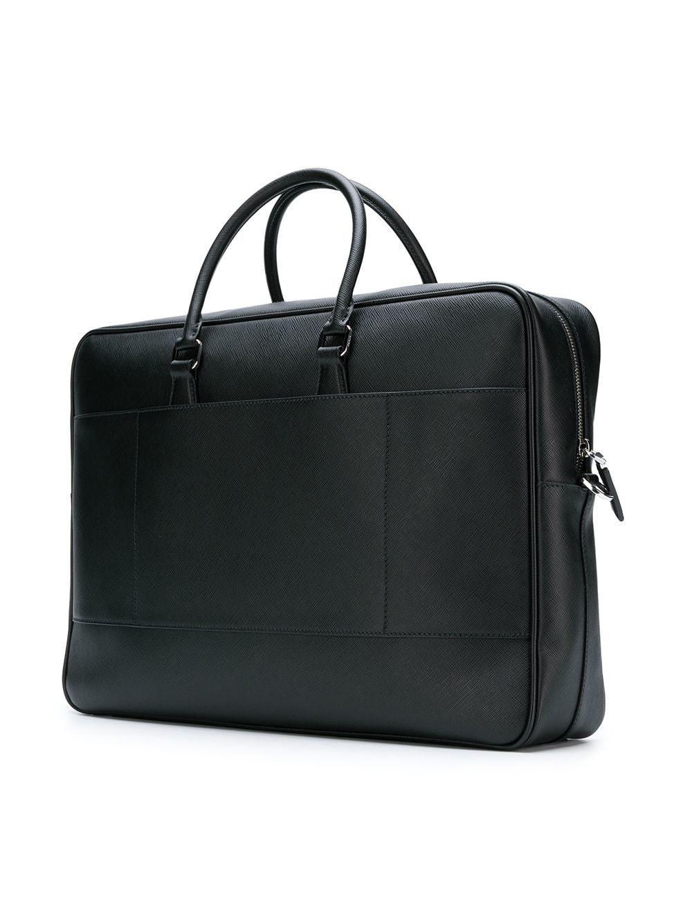 e0be3afa84aa Prada - Black Logo Plaque Briefcase for Men - Lyst. View fullscreen