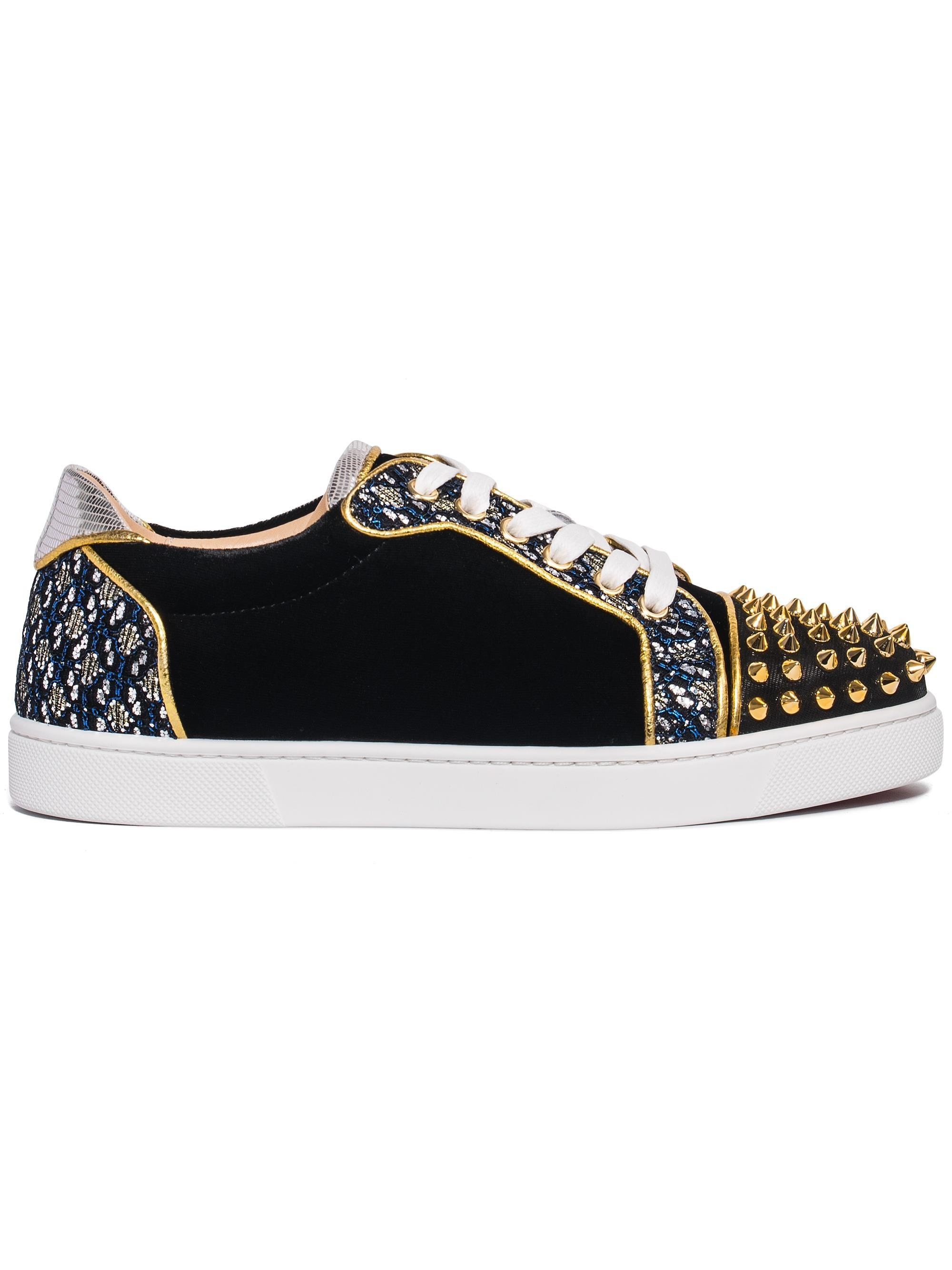 83f3c3848922 Lyst - Christian Louboutin Vieira Spikes Lace-up Low-top Sneakers in ...
