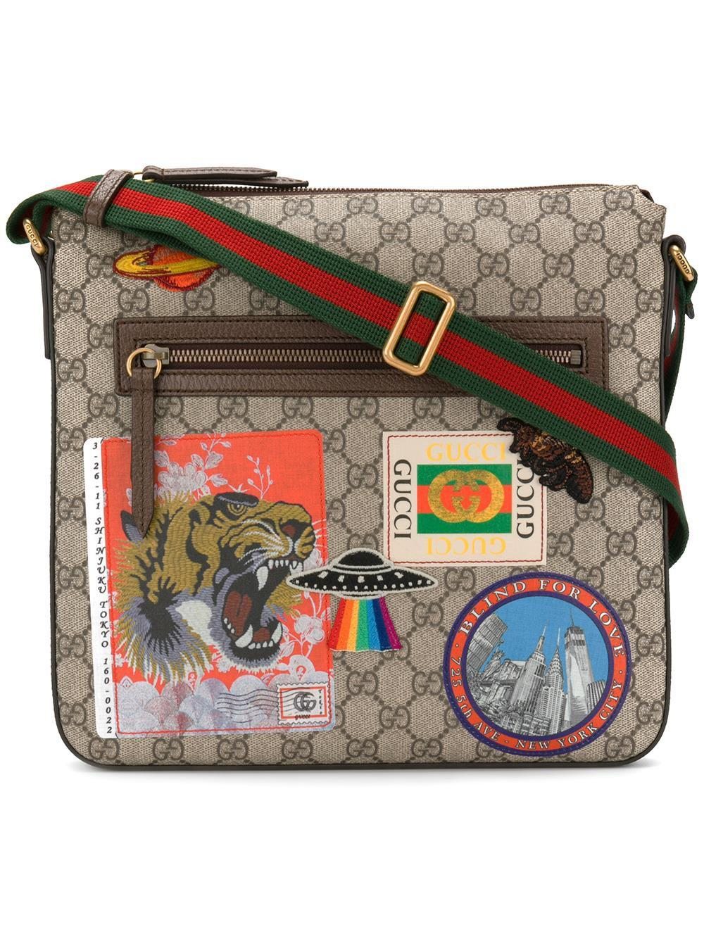 ae0384513590 Gucci Courrier Soft Gg Supreme Crossbody Bag for Men - Lyst