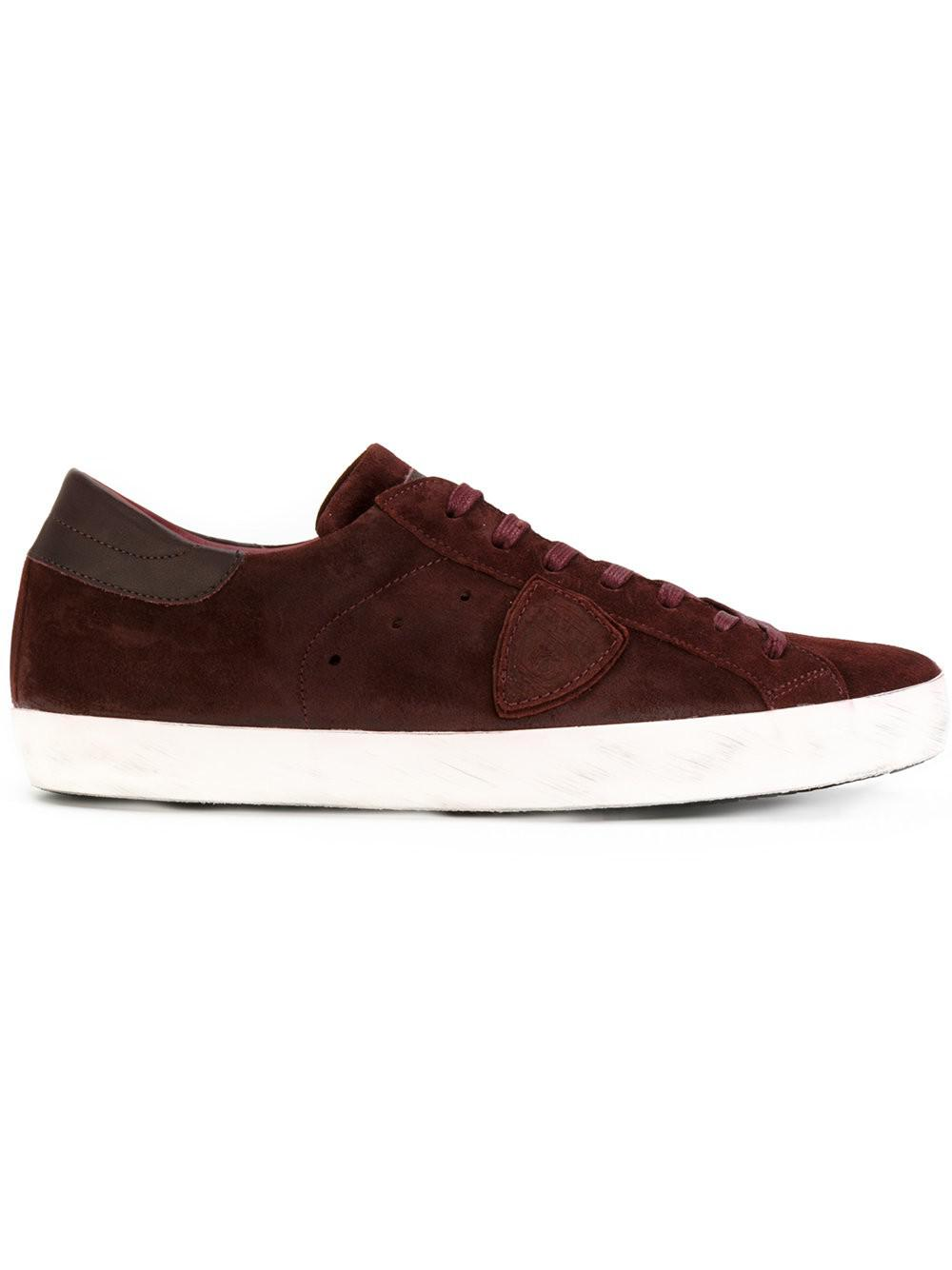 lyst philippe model lace up sneakers for men. Black Bedroom Furniture Sets. Home Design Ideas