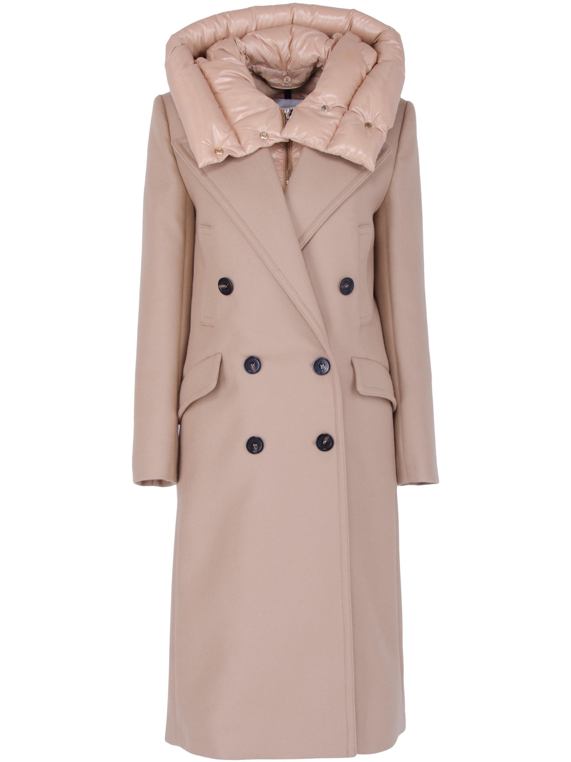 804ab70c44b buy mens down jackets with fur hood green moncler no.1945 151de b834c  real  lyst moncler acacia padded coat in natural 67dee b5cde