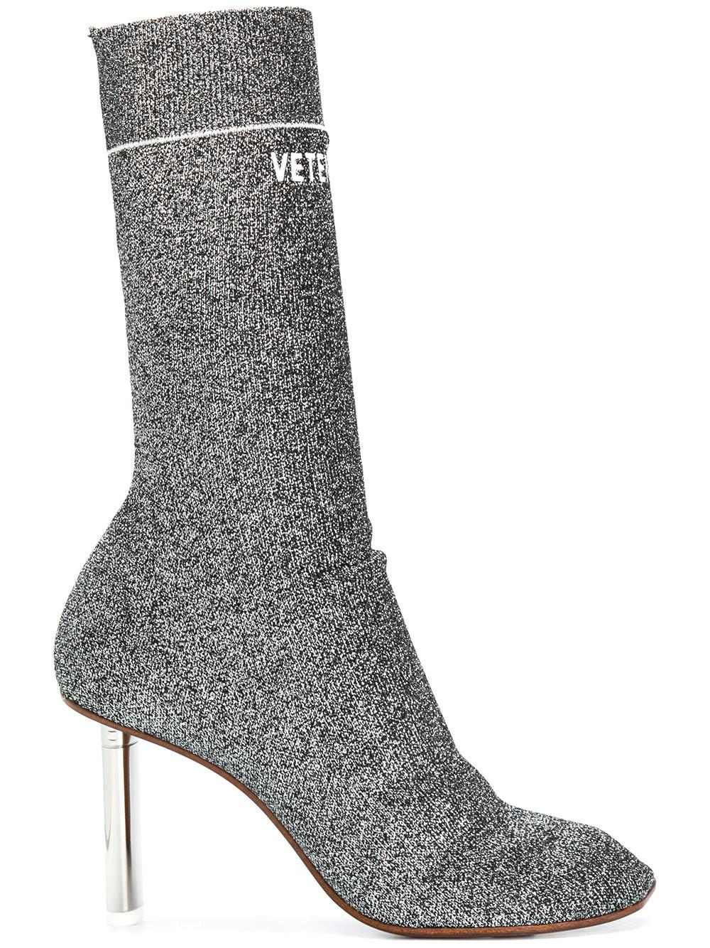 Lyst Vetements Sock Ankle Boots In Gray