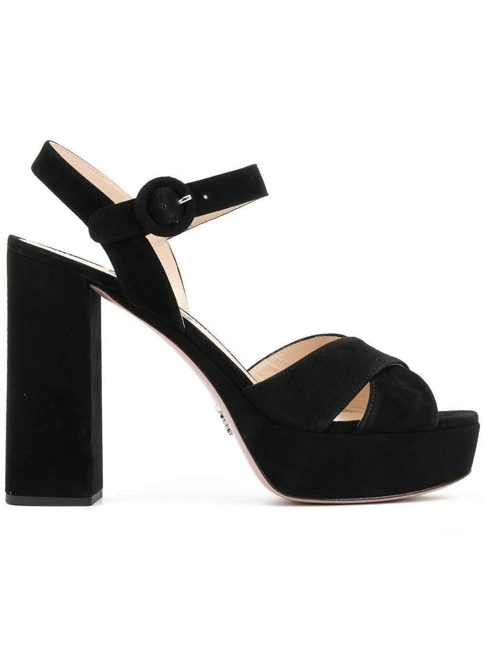 442177df9b2c Lyst - Prada Platform Sandals in Black for Men