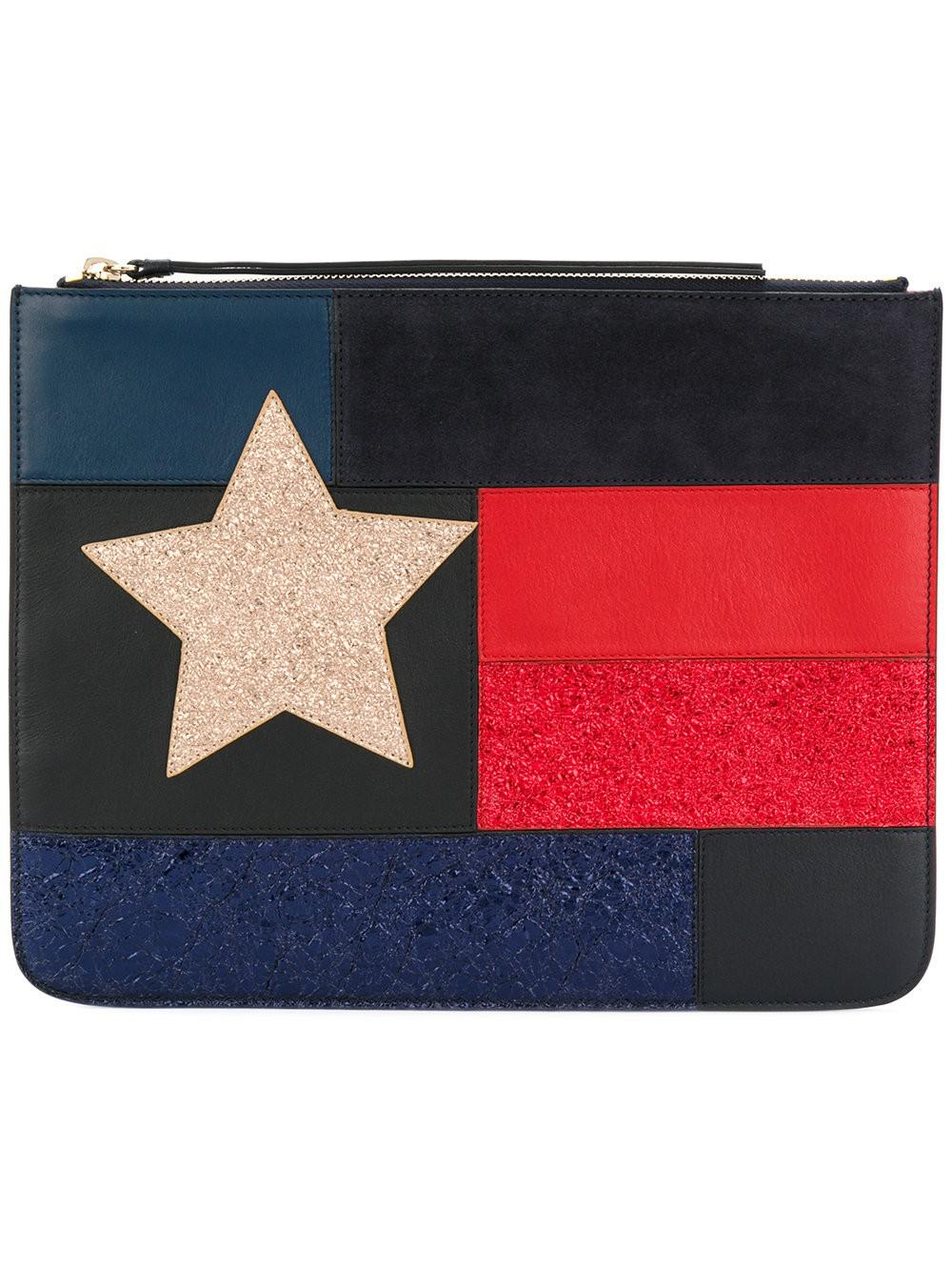 Tommy Icon Pearl Flag pouch - Metallic Tommy Hilfiger