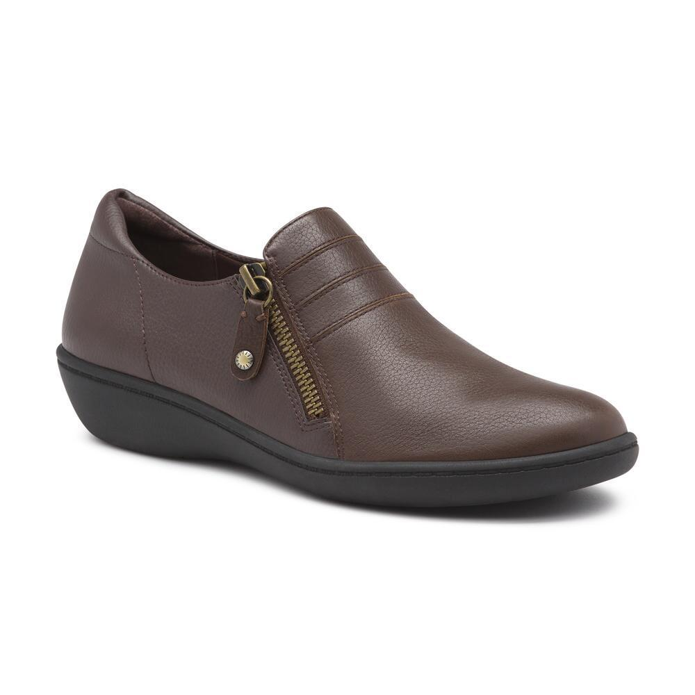 59edf597954 Lyst - G.H.BASS Teresa Leather Comfort Shoe in Brown
