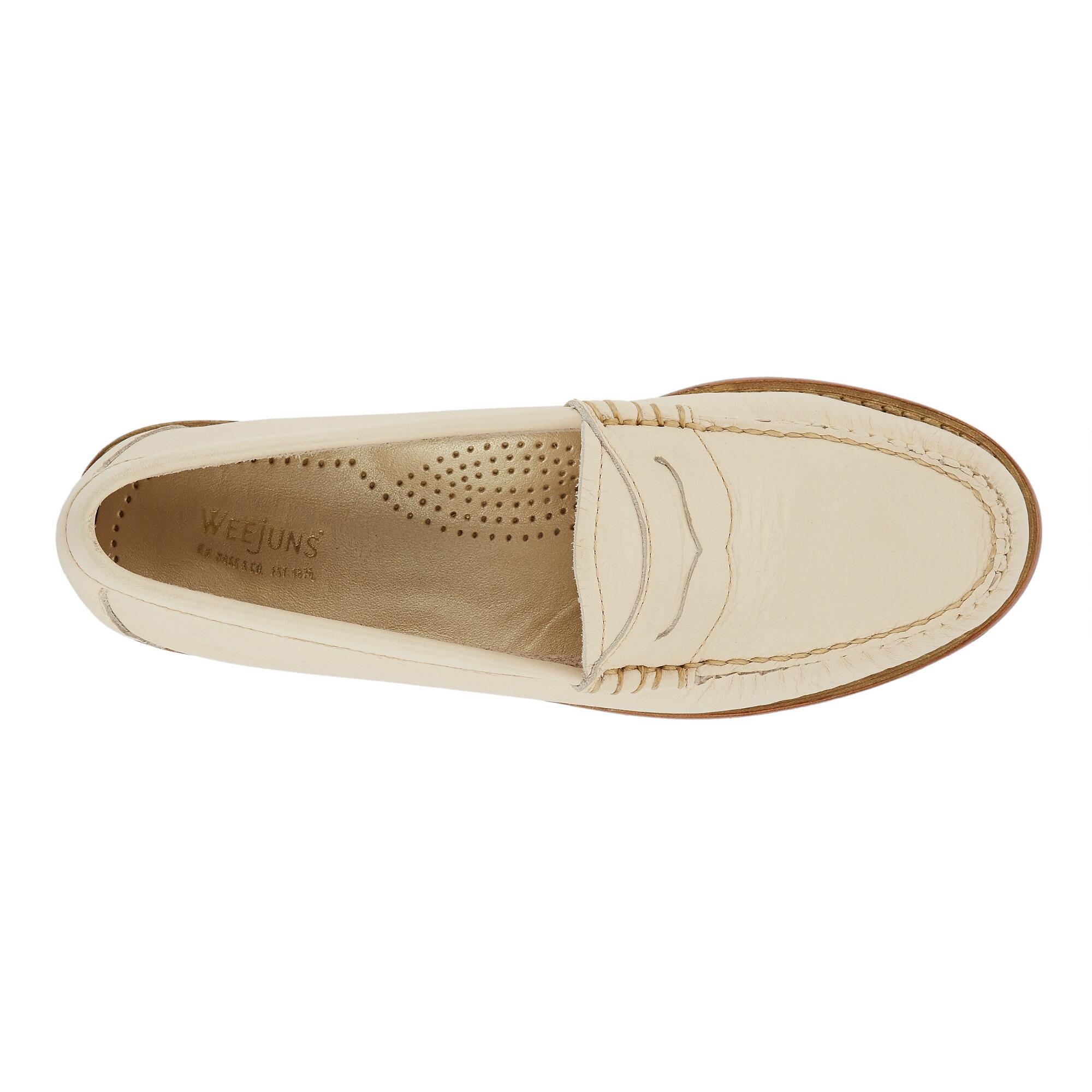 f24cbfd0c98 Lyst - G.H.BASS Whitney Natural Sole Weejuns in Natural