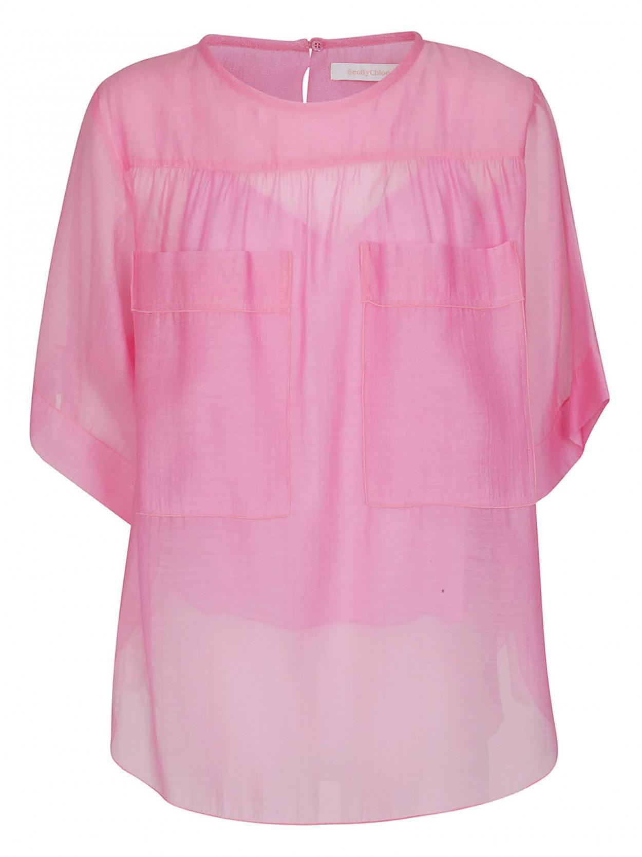 20e6d72a4c0da2 See By Chloé SEE BY CHLOE' t-shirt fucsia tasche in Pink - Lyst