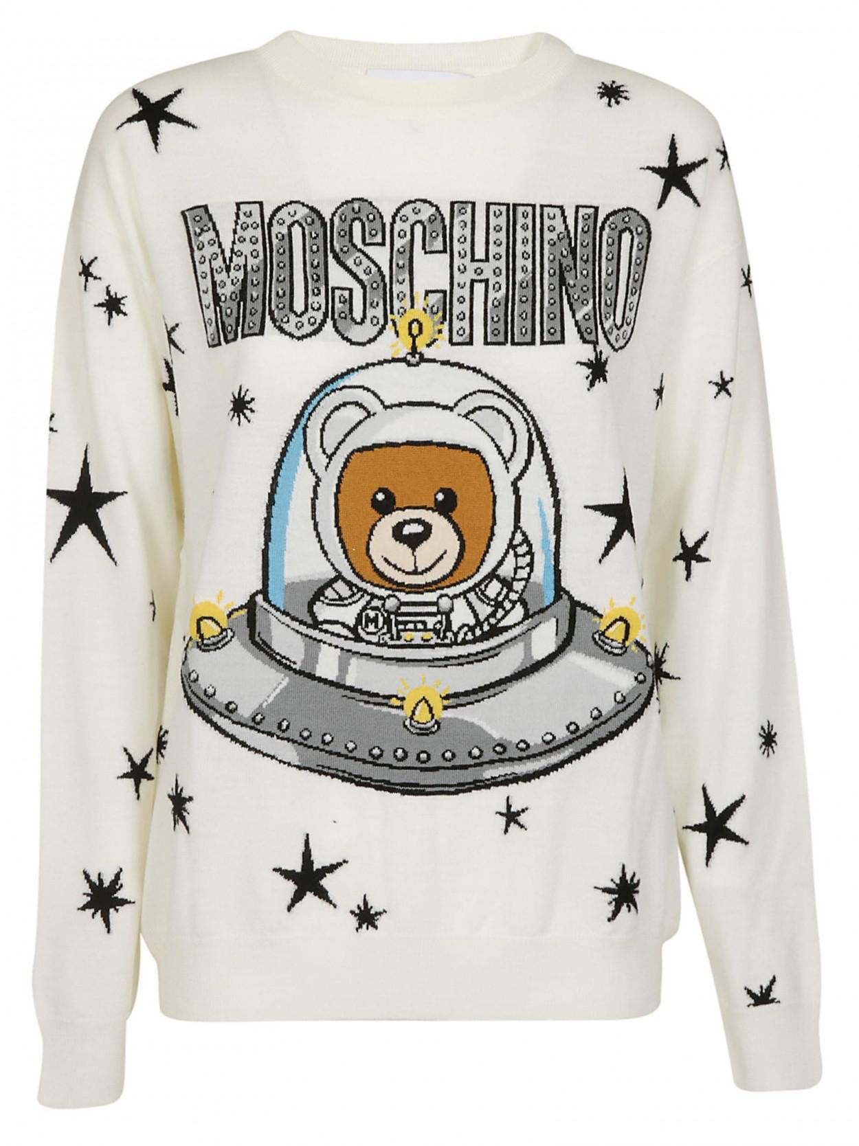 7144a5bfd1 Moschino MOSCHINO MAGLIA ORSO BIANCA in White - Lyst