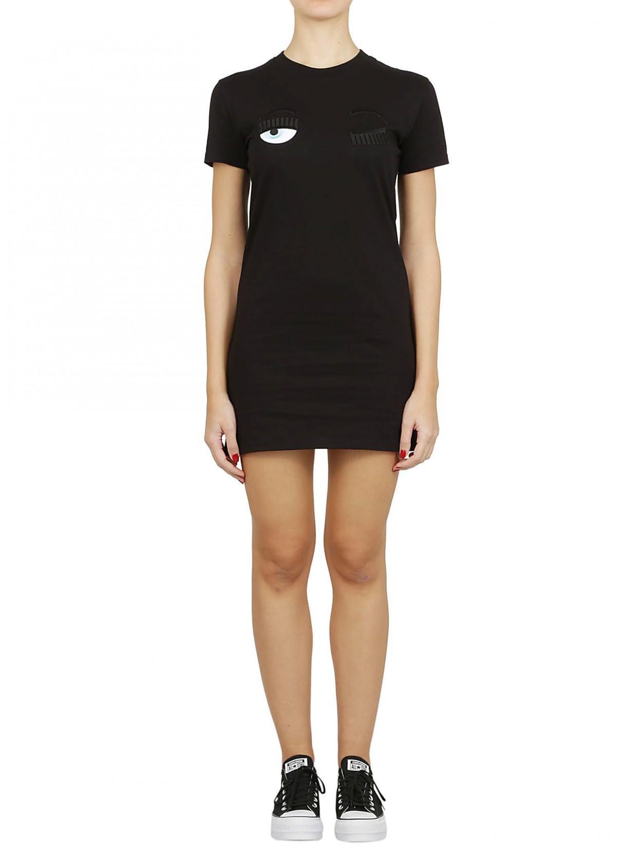 fd640d65f72b Lyst - Chiara Ferragni CHIARA FERRAGNI abito t-shirt nero in Black