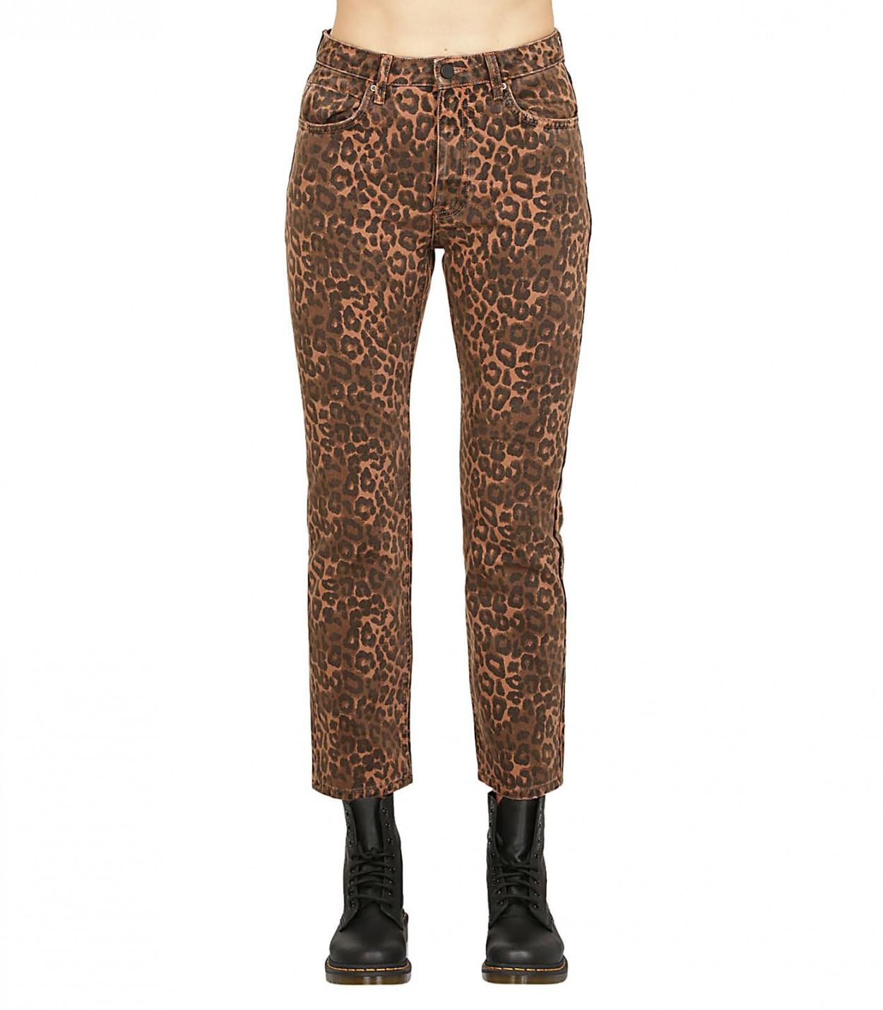 ca6621dfd8e6 Lyst - Alexander Wang Leopard Print Jeans in Brown