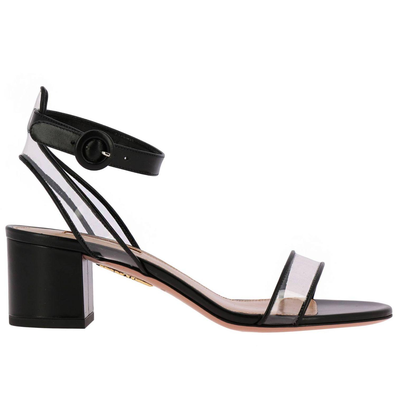 15839e5a051 Lyst - Aquazzura Heeled Sandals Women in Black