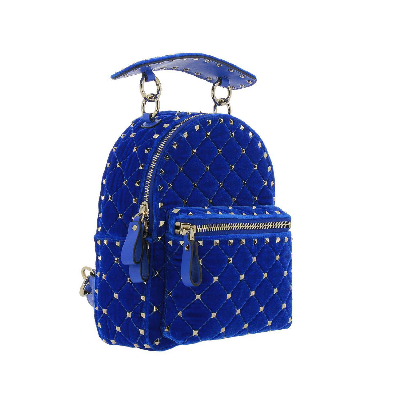 Valentino rockstud spike backpack in quilted velvet jpg 1500x1500 Blue  spike backpack e9a4af0d4e2f5