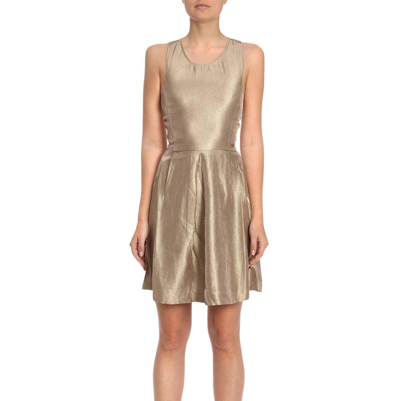 ad87bcf7c2e Lyst - Robes femme Armani Exchange en coloris Métallisé